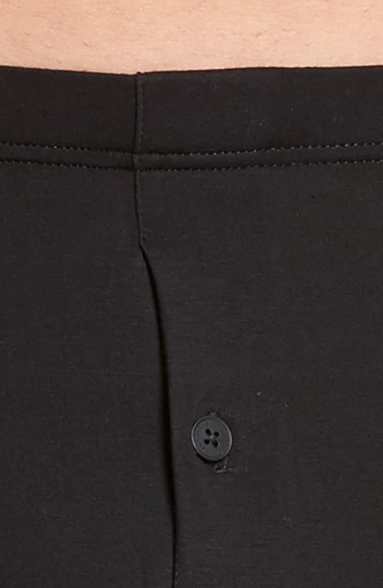 Cotton Sensation Long Leg Boxer Briefs,                             Alternate thumbnail 4, color,                             Black