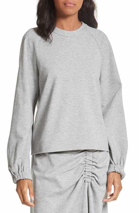 Tibi Blouson Sleeve Sweatshirt