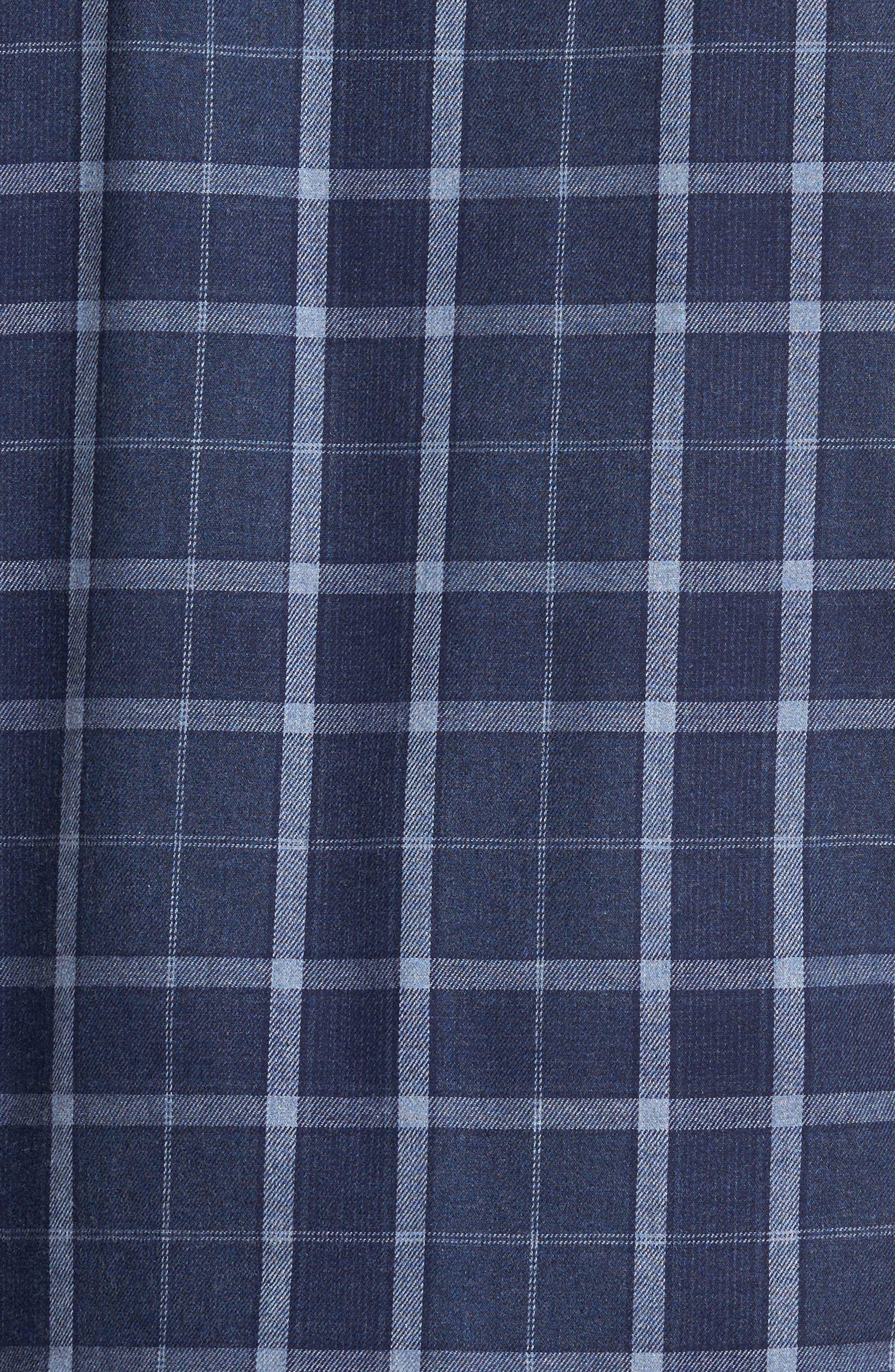 Guiness Plaid Pajama Set,                             Alternate thumbnail 5, color,                             Navy