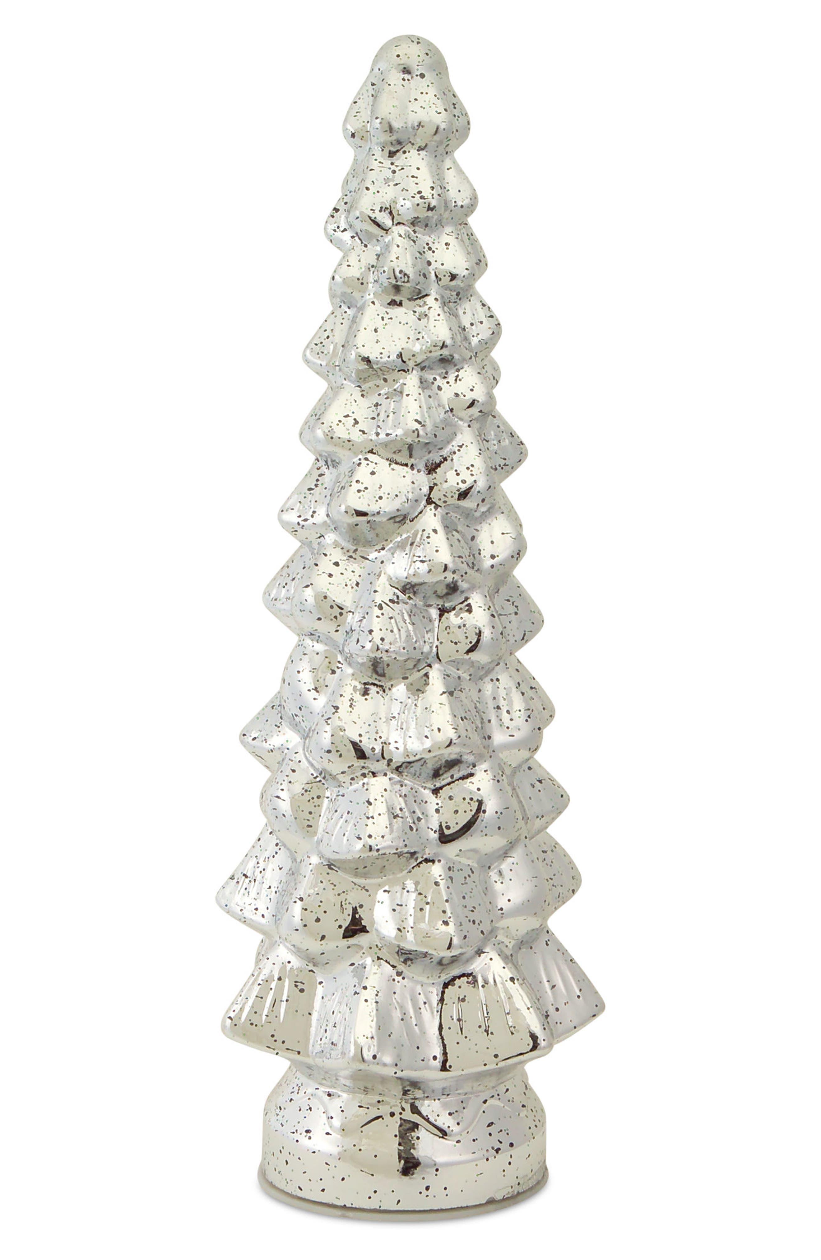 Light-Up Mercury Glass Tree,                         Main,                         color, Silver