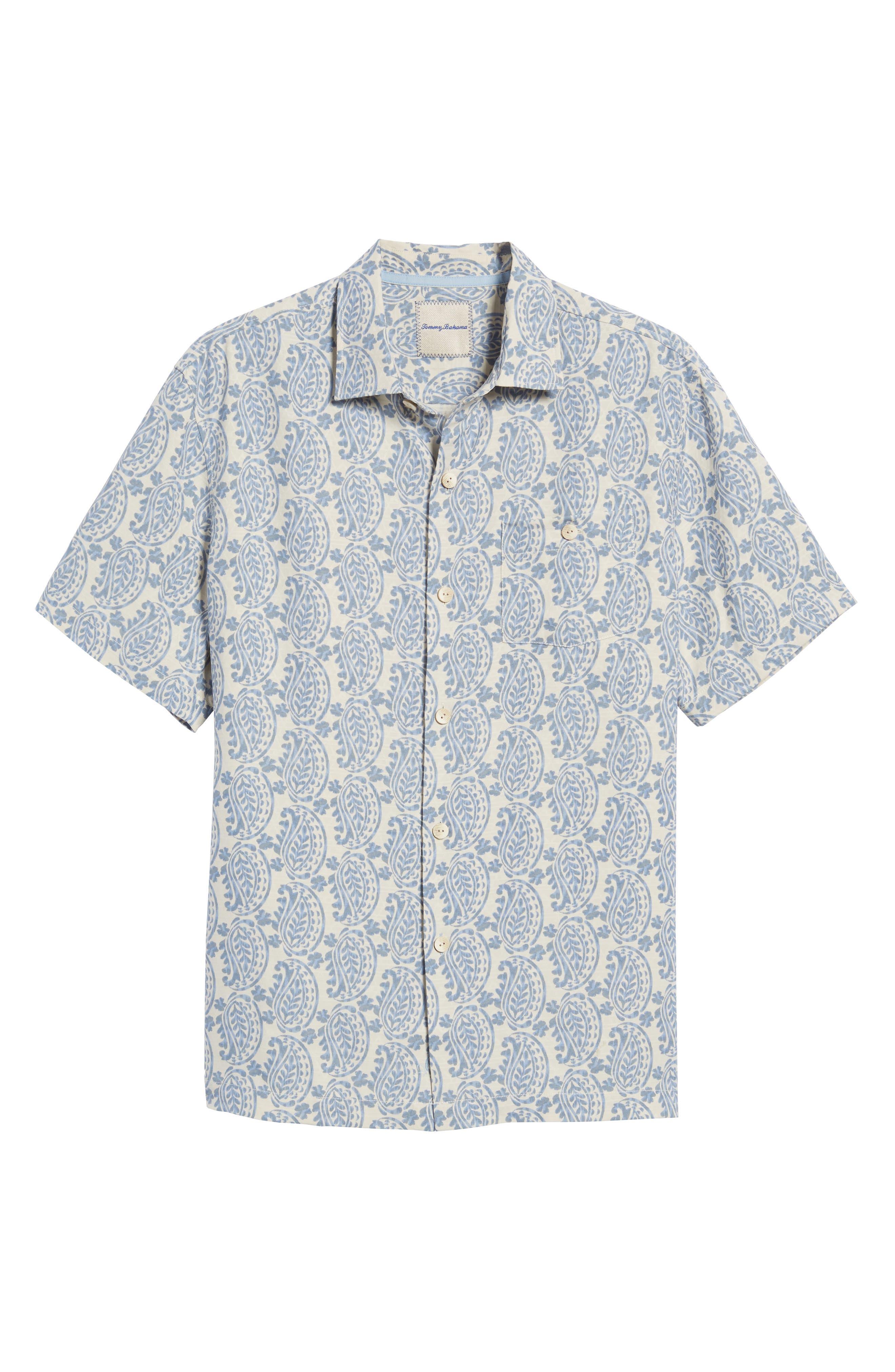 Alternate Image 6  - Tommy Bahama Paisley Days Woven Shirt
