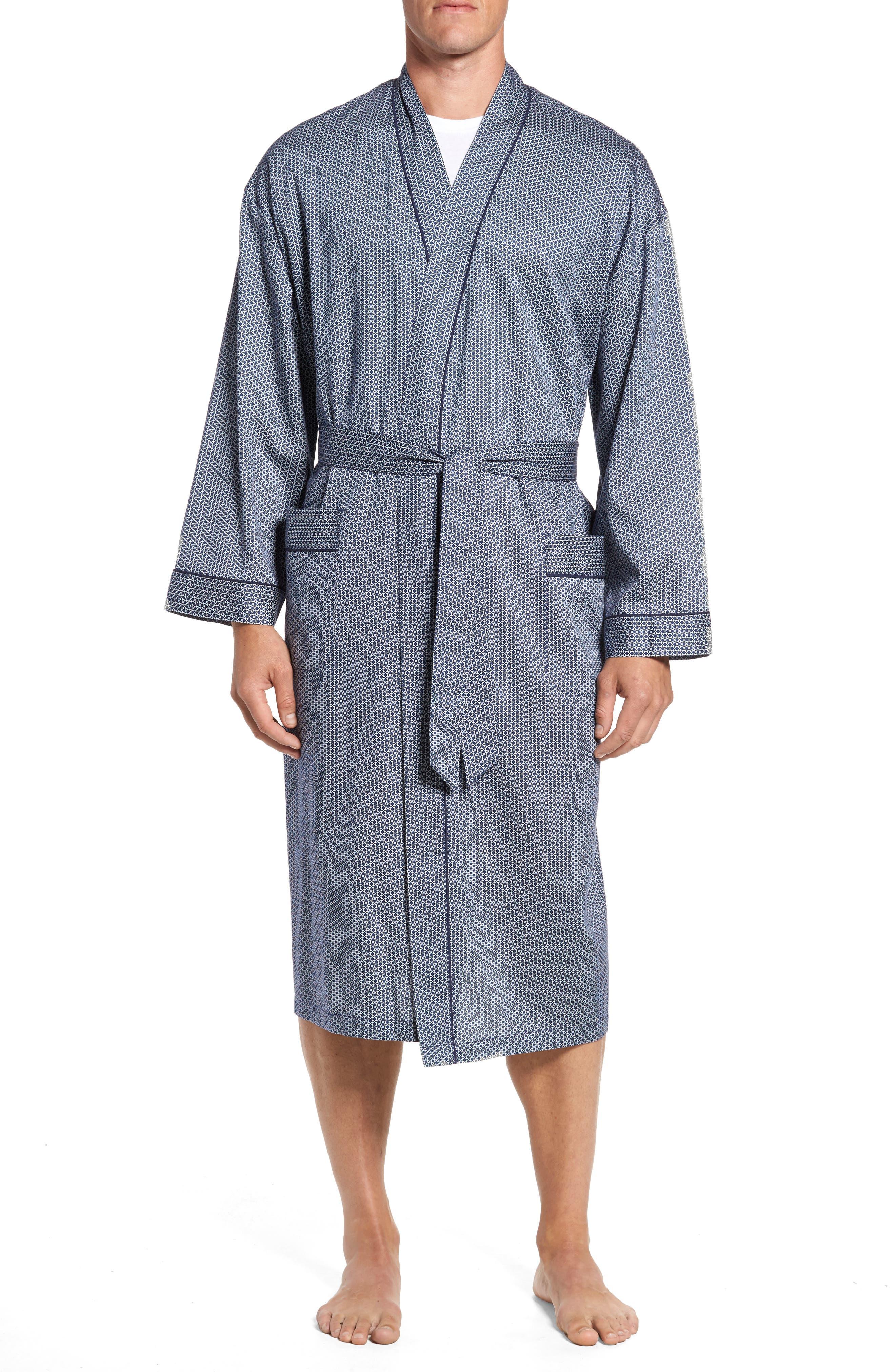 Winterlude Robe,                         Main,                         color, Navy Stars