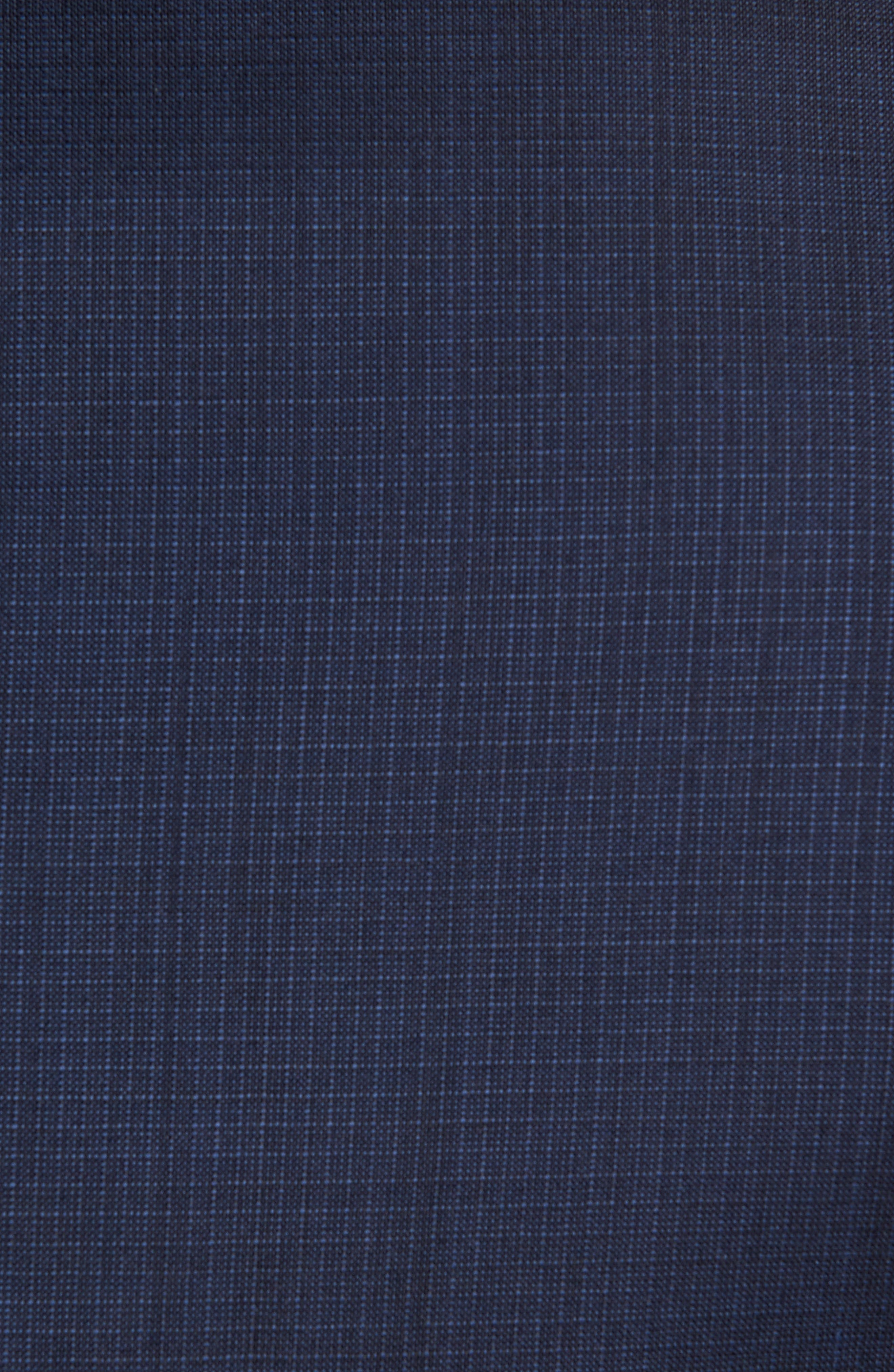 Flat Front Check Wool Trousers,                             Alternate thumbnail 2, color,                             High Blue