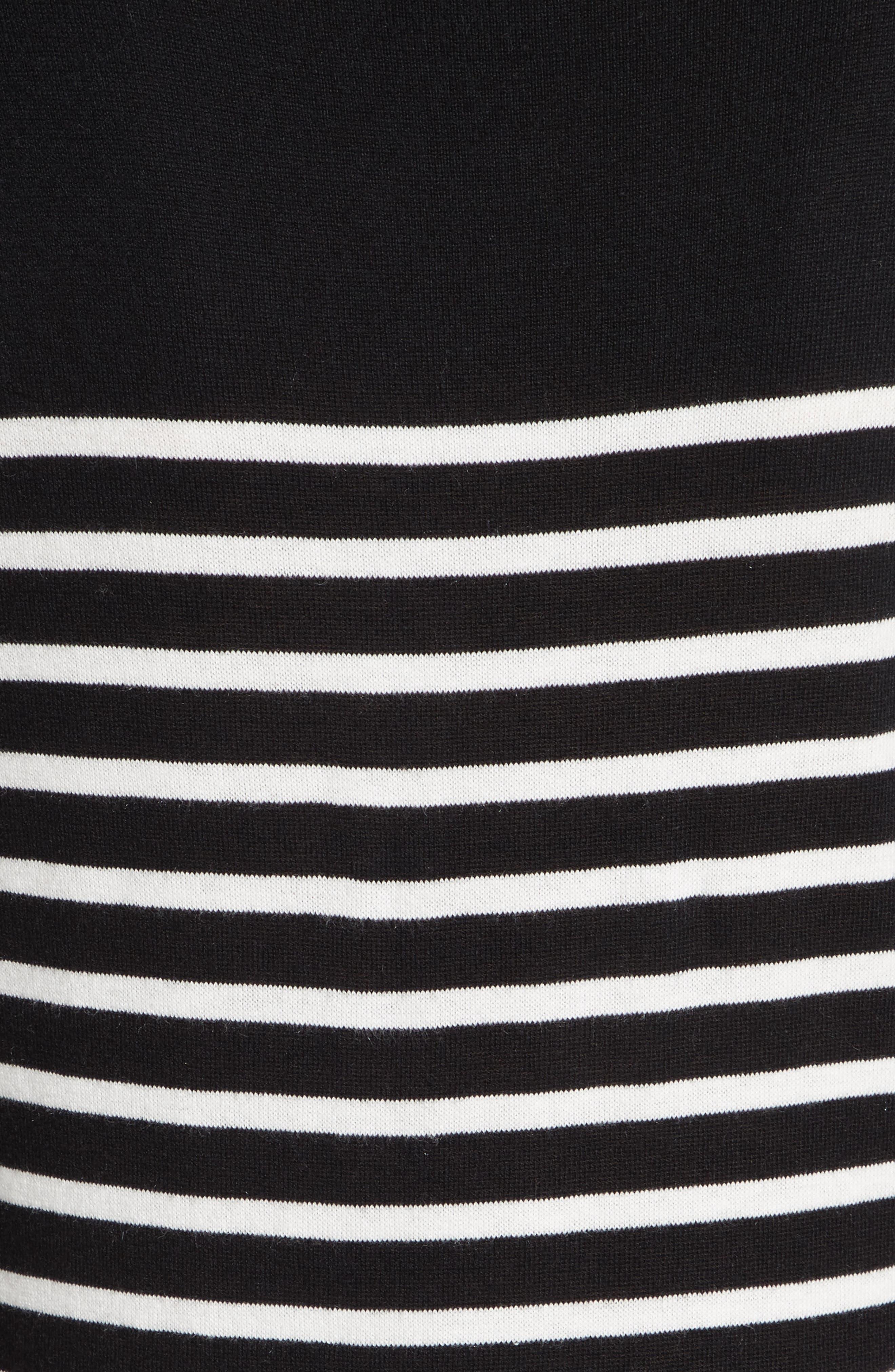 Alternate Image 5  - kate spade new york stripe swing sweater dress