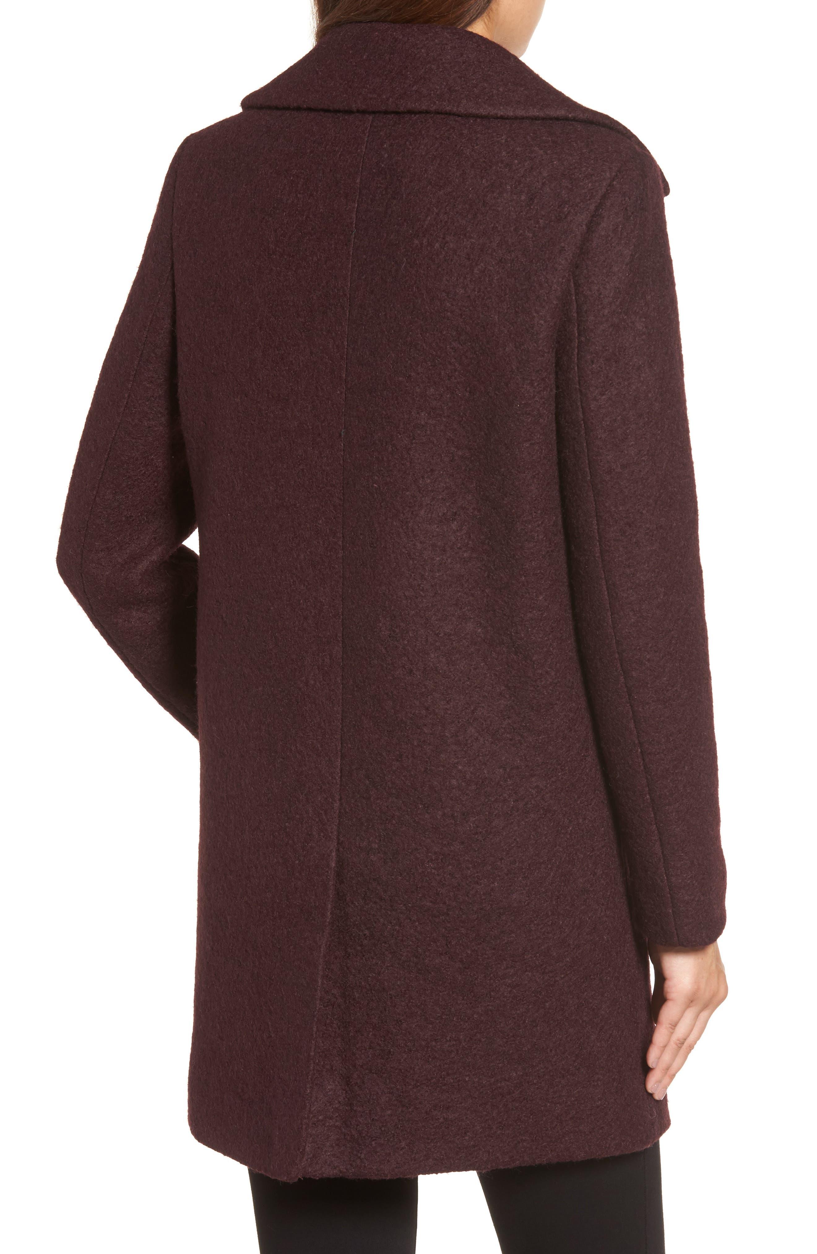 Alternate Image 2  - Kenneth Cole New York Wool Blend Bouclé Coat