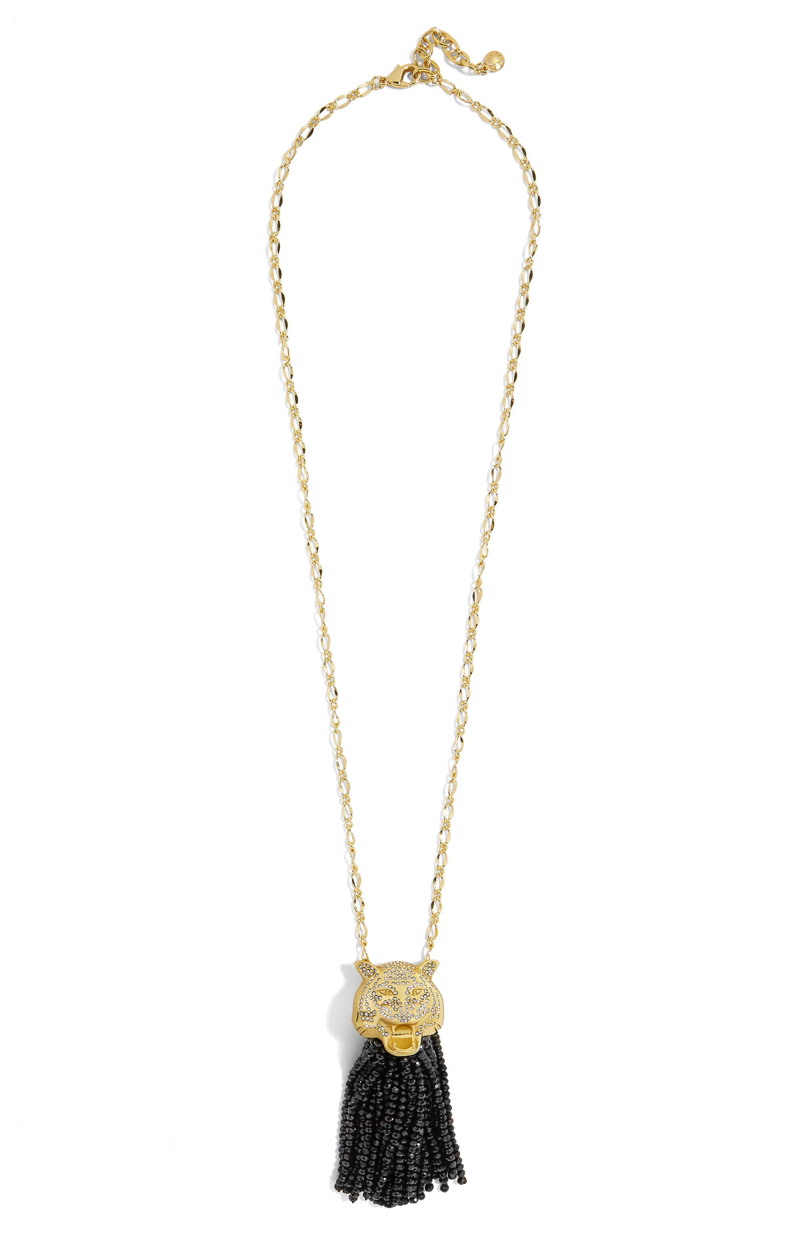 BaubleBar Jaguar Pendant Necklace