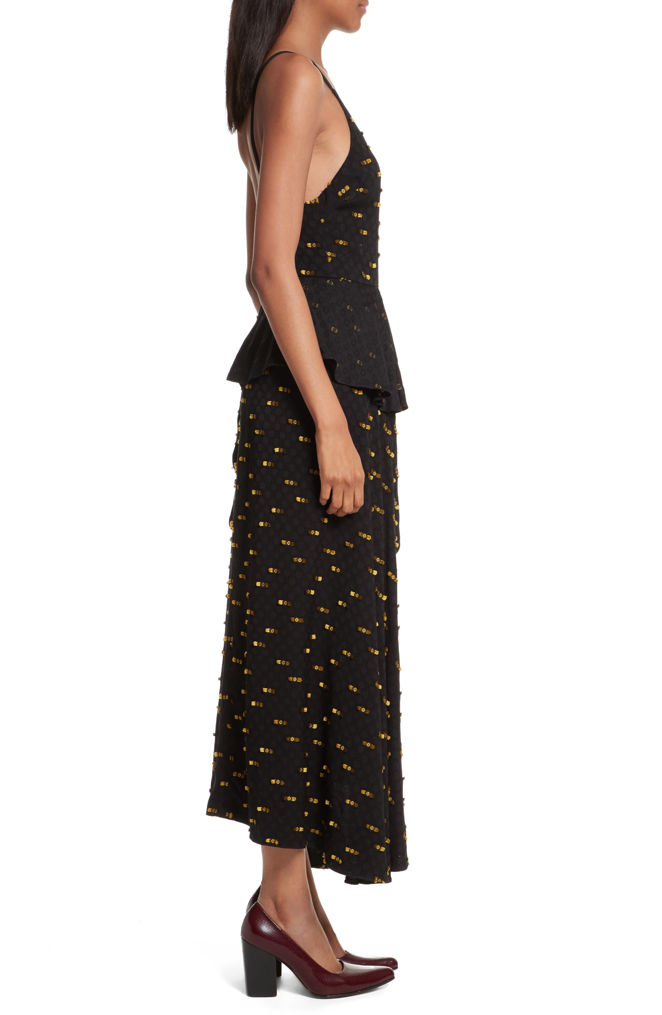 Catch Crepe Maxi Dress,                             Alternate thumbnail 3, color,                             Black