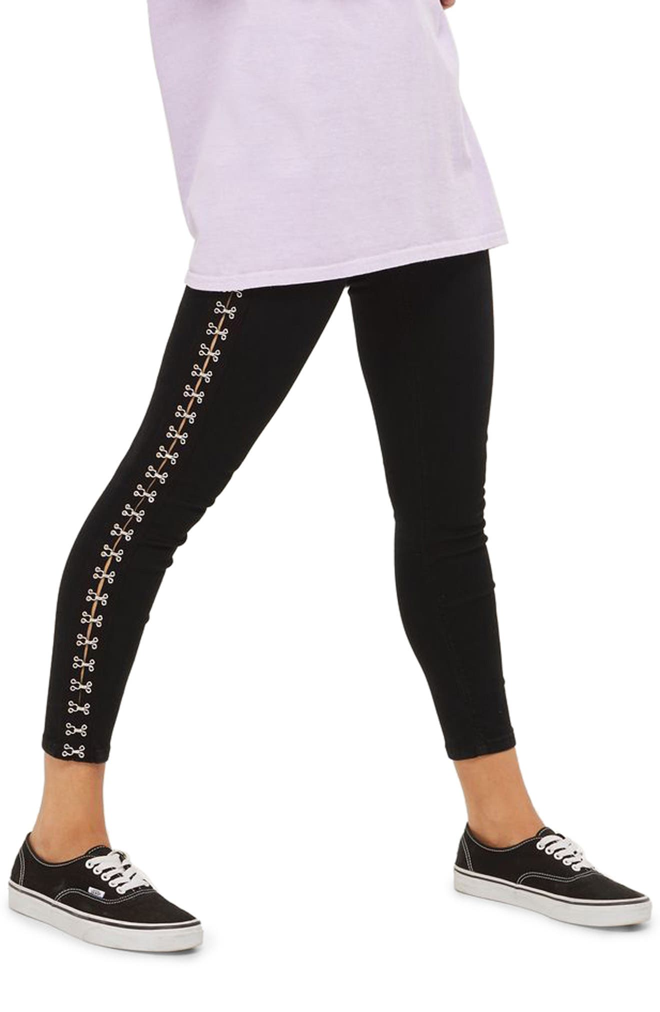 Topshop Joni Hook & Eye High Rise Super Skinny Jeans