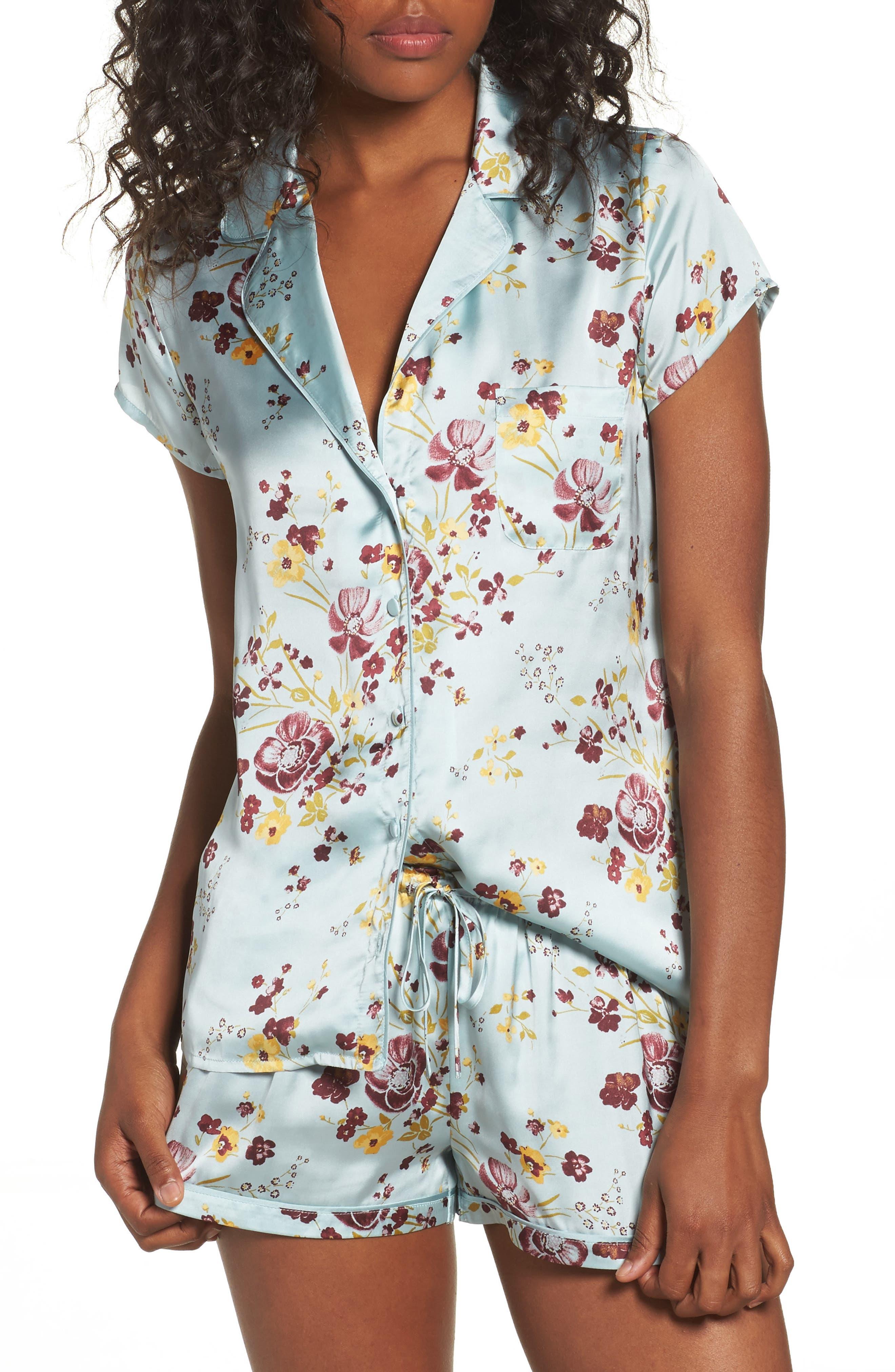 Alternate Image 1 Selected - Chelsea28 Satin Pajamas
