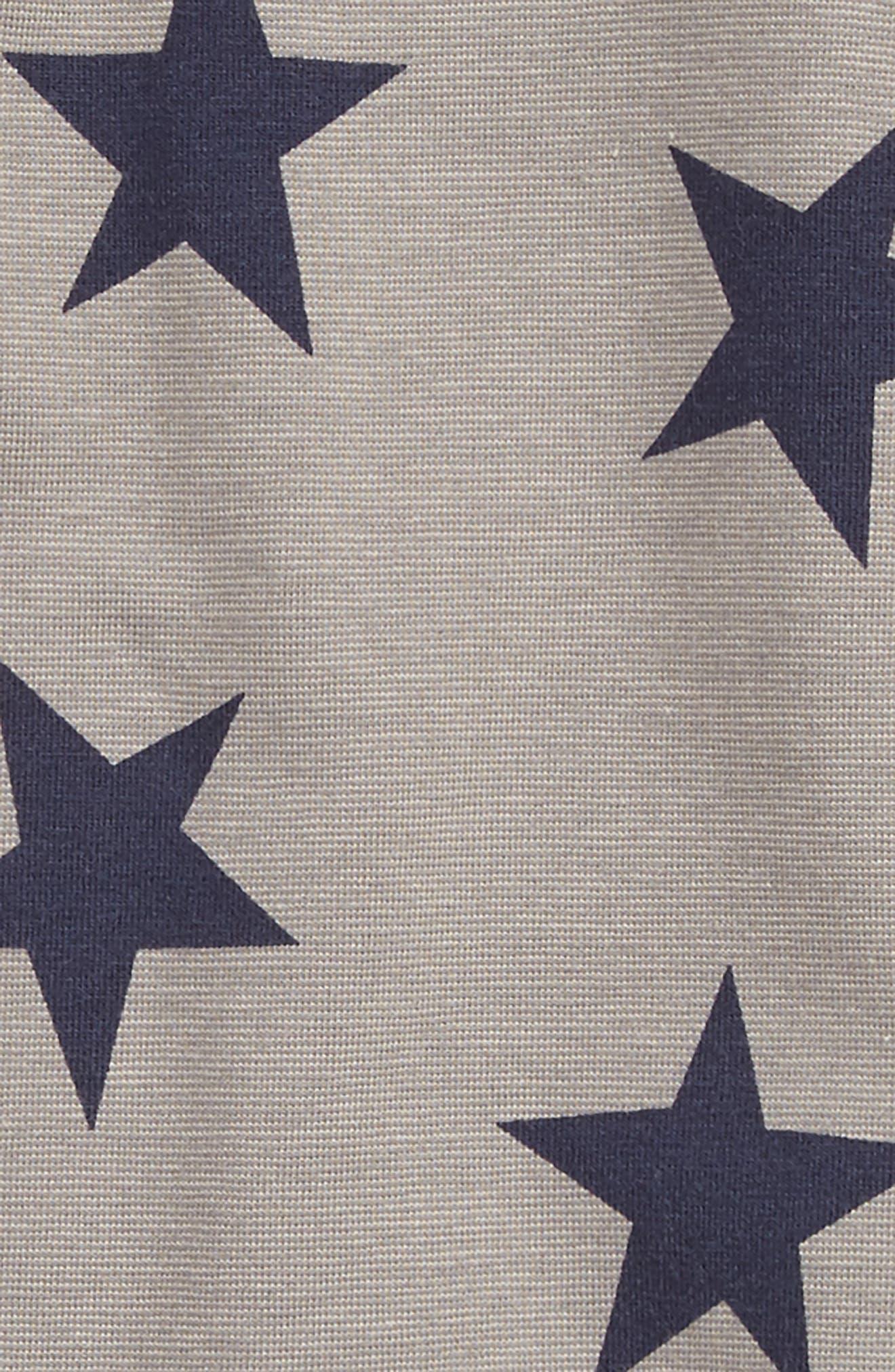 Fleming Print Romper,                             Alternate thumbnail 2, color,                             Navy Blazer Star