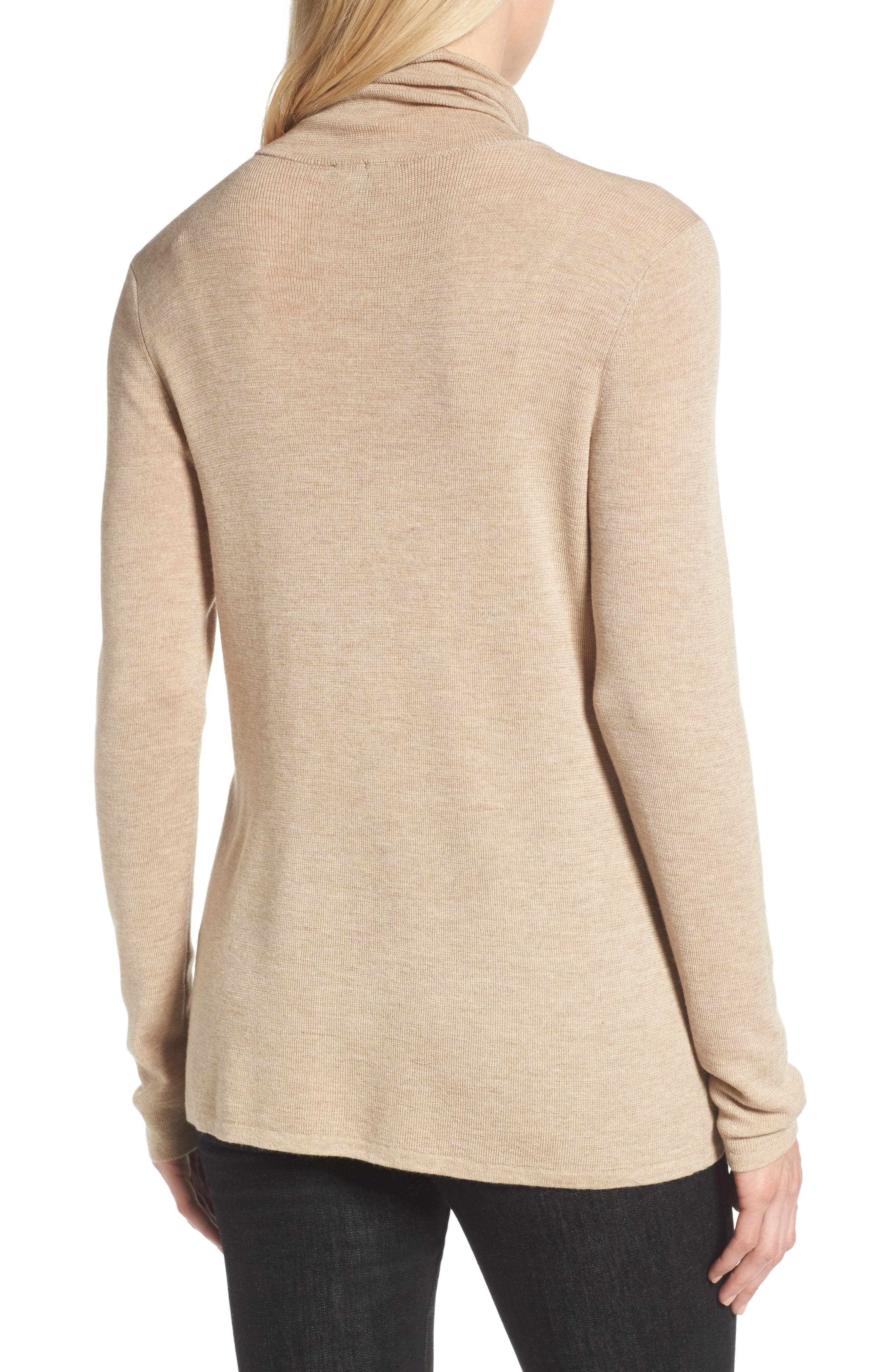 The Fisher Project Ultrafine Merino Turtleneck Sweater,                             Alternate thumbnail 2, color,                             Maple Oat