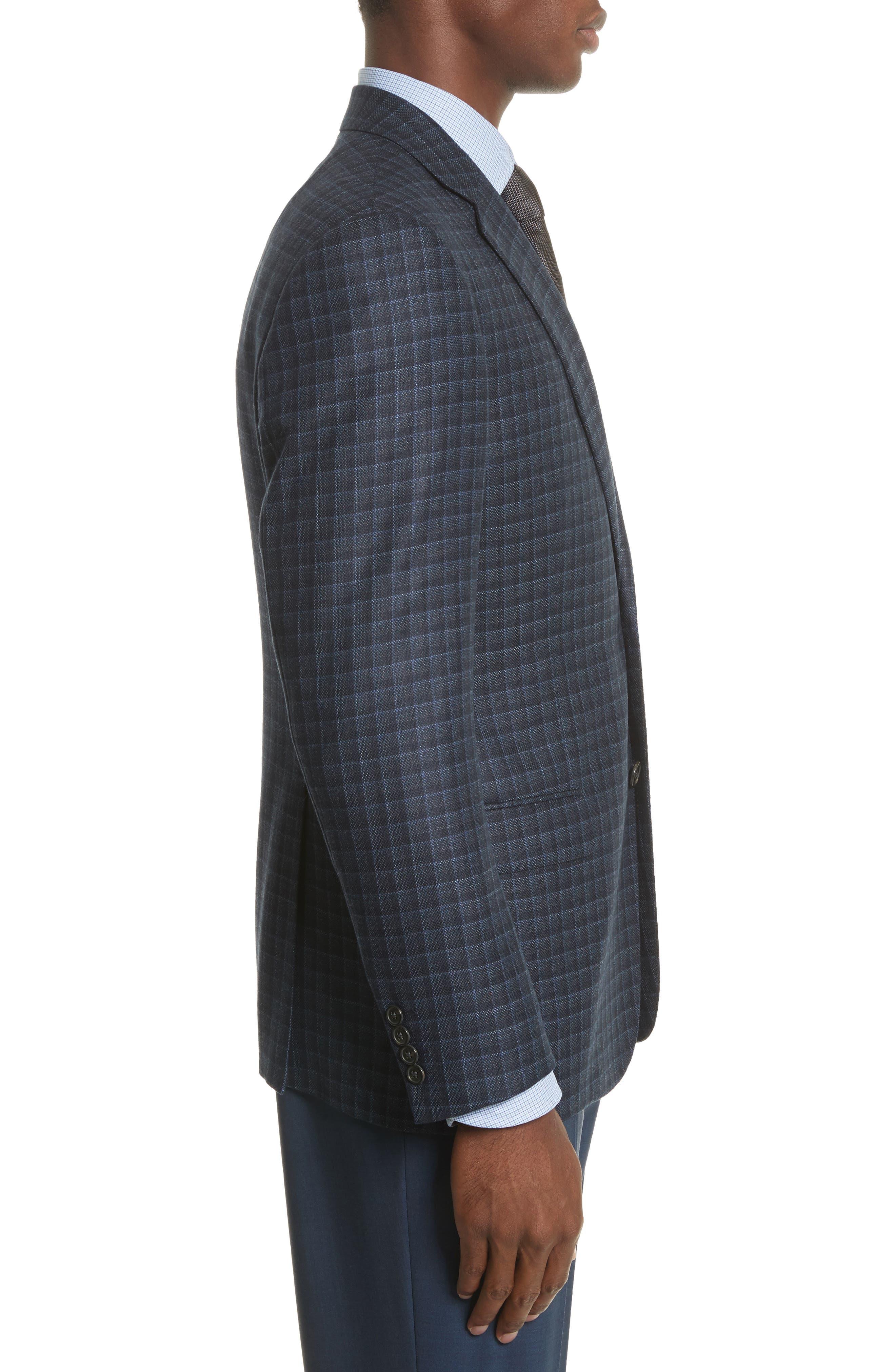 Alternate Image 3  - Armani Collezioni G-Line Trim Fit Check Silk & Wool Sport Coat