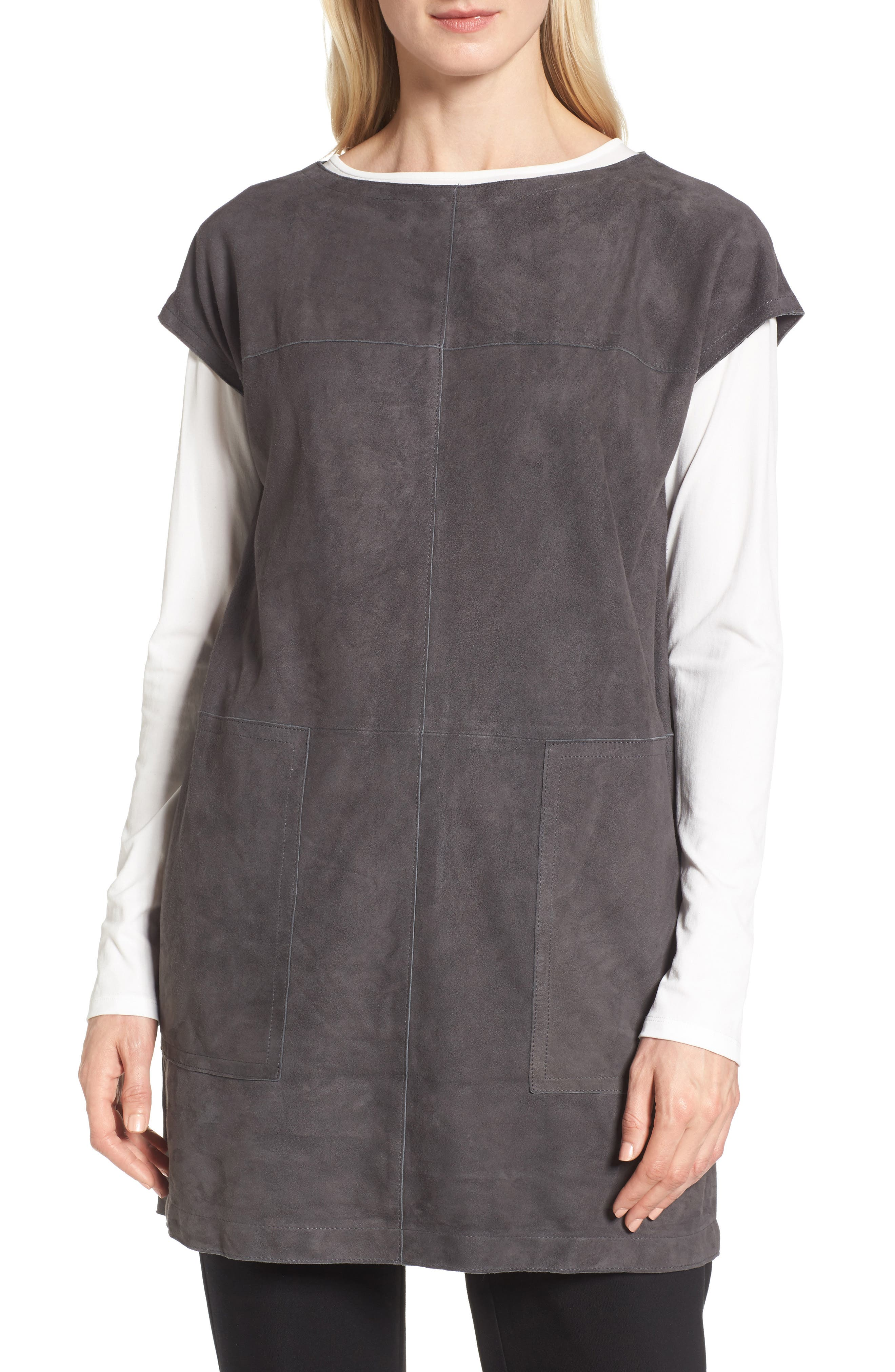 Suede Tunic,                         Main,                         color, Bark