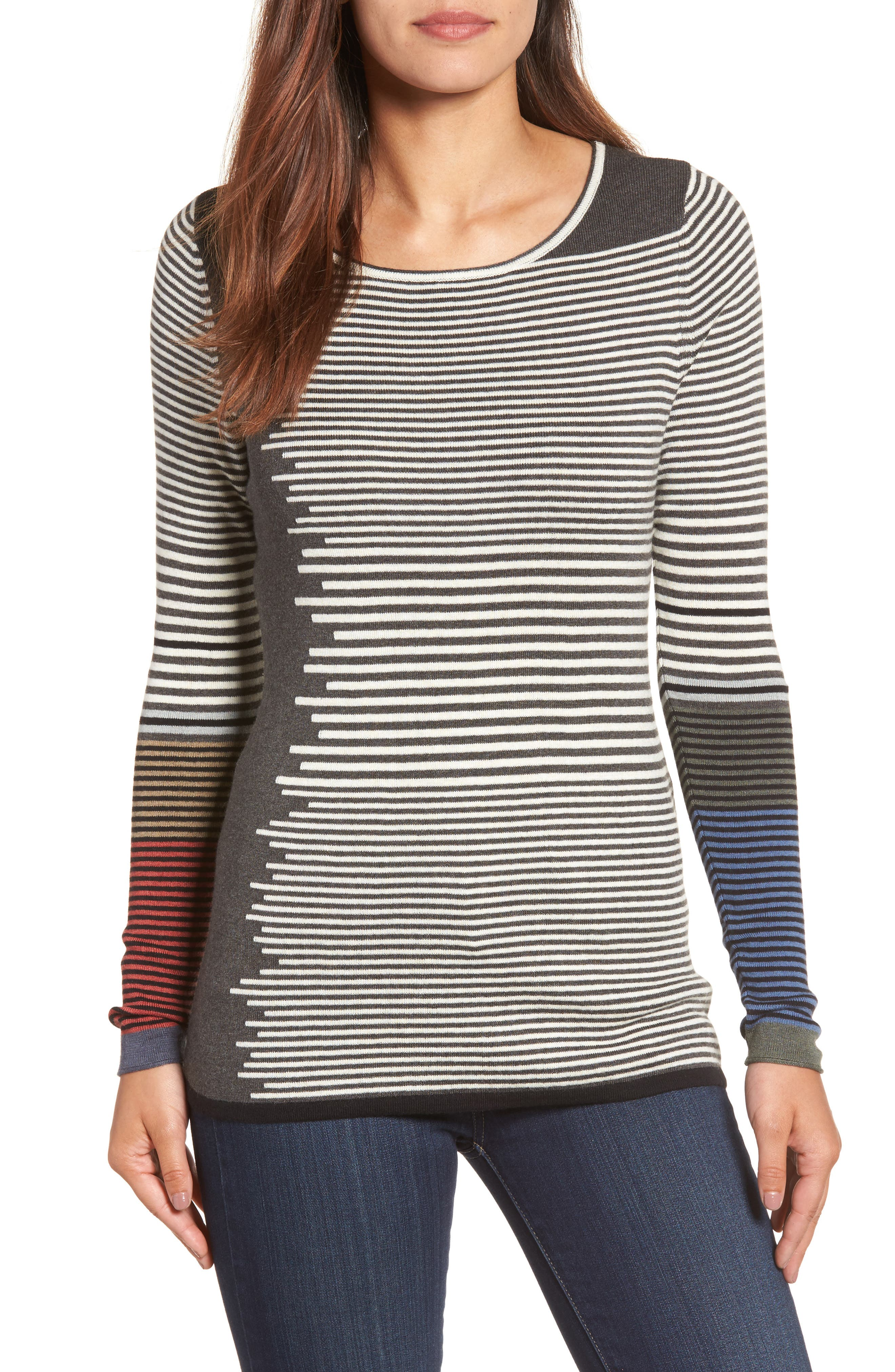 NIC+ZOE Metro Stripe Sweater (Regular & Petite)