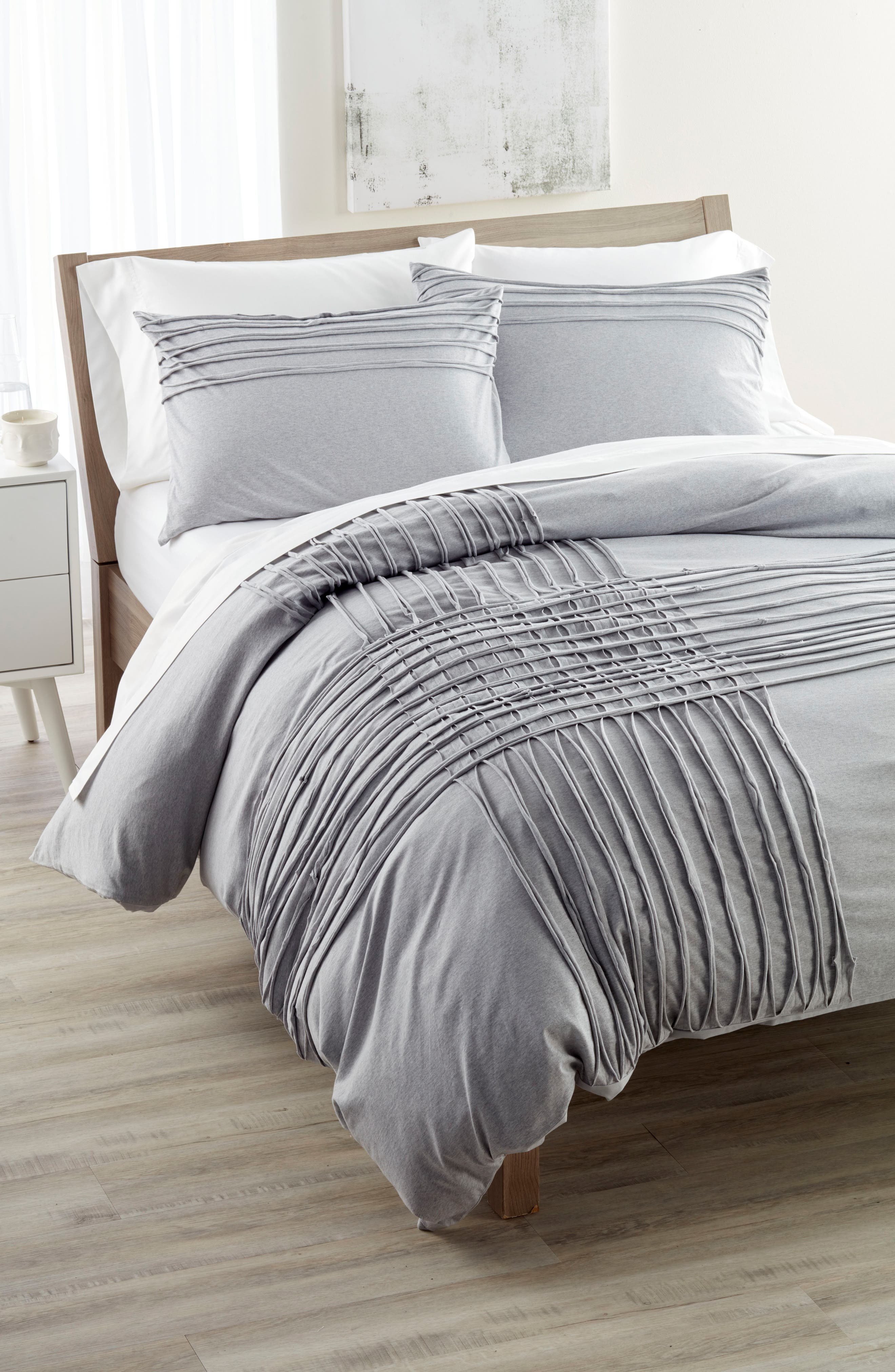 Nordstrom at Home Jersey Grid Bedding Collection