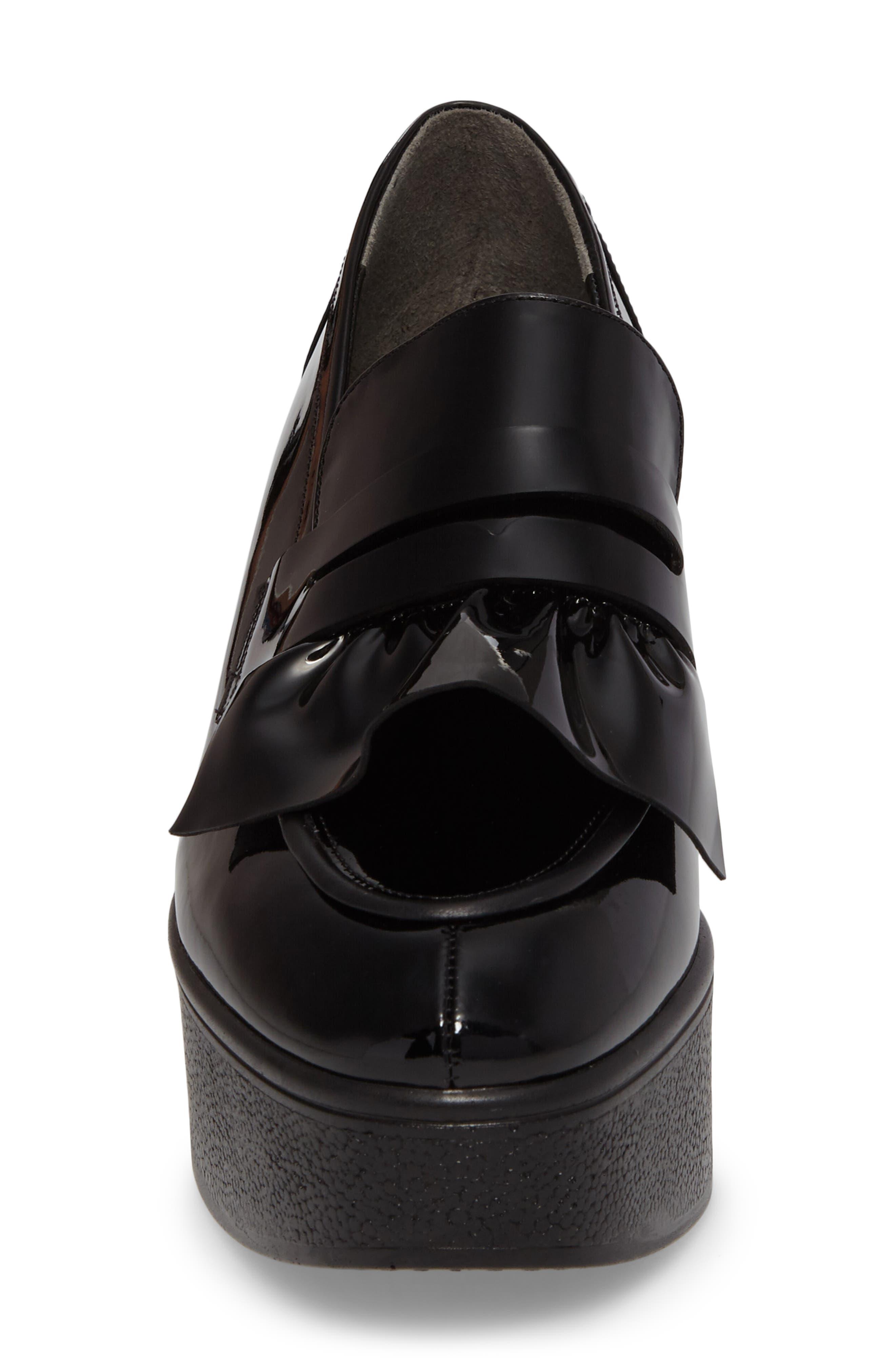 Xock Platform Loafer,                             Alternate thumbnail 4, color,                             Black