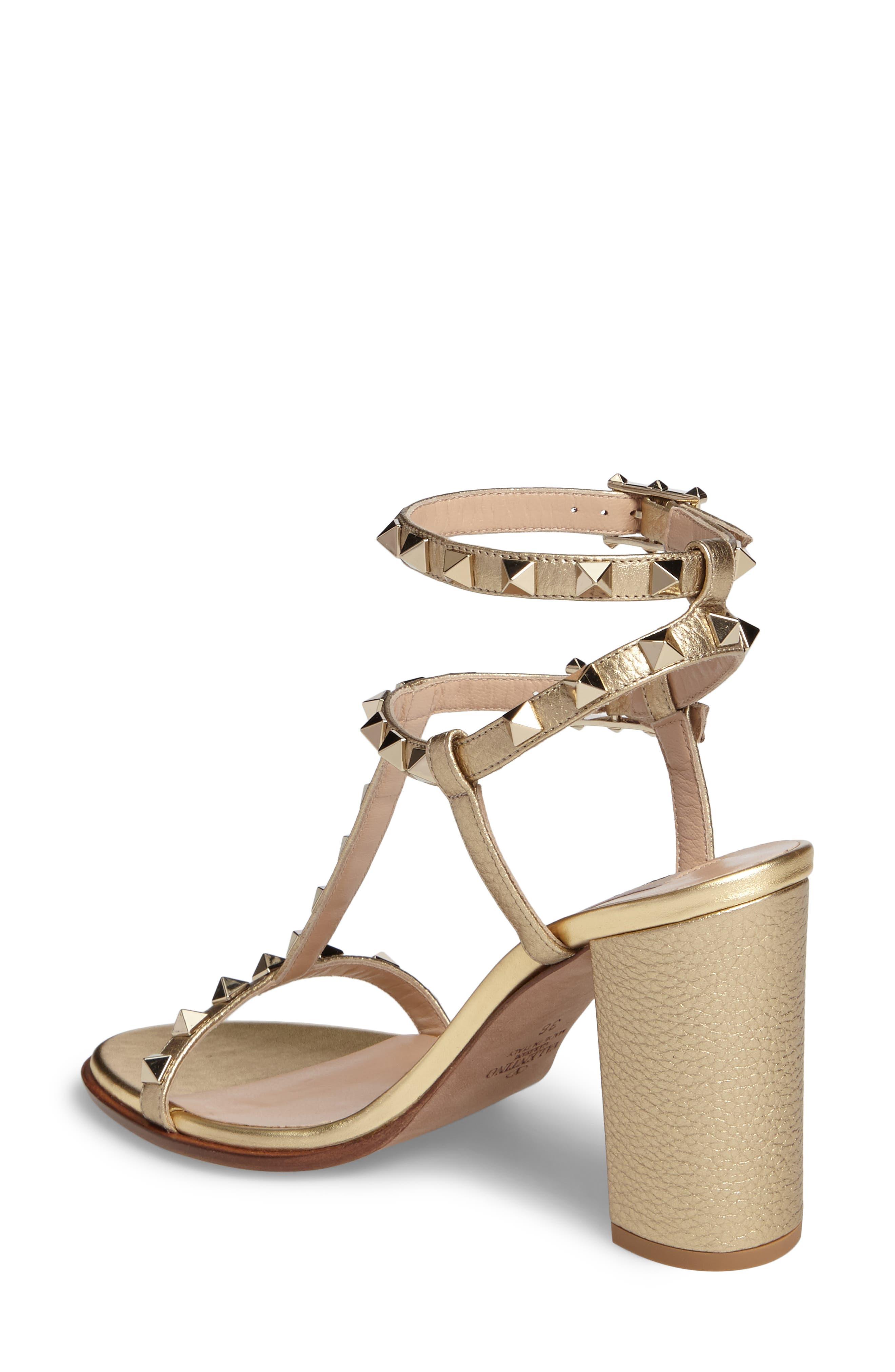 Alternate Image 2  - VALENTINO GARAVANI Rockstud Ankle Strap Sandal (Women)