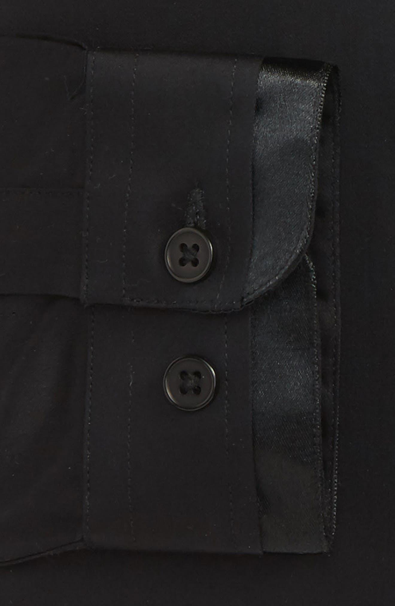 Alternate Image 6  - Topman Satin Trim Woven Shirt