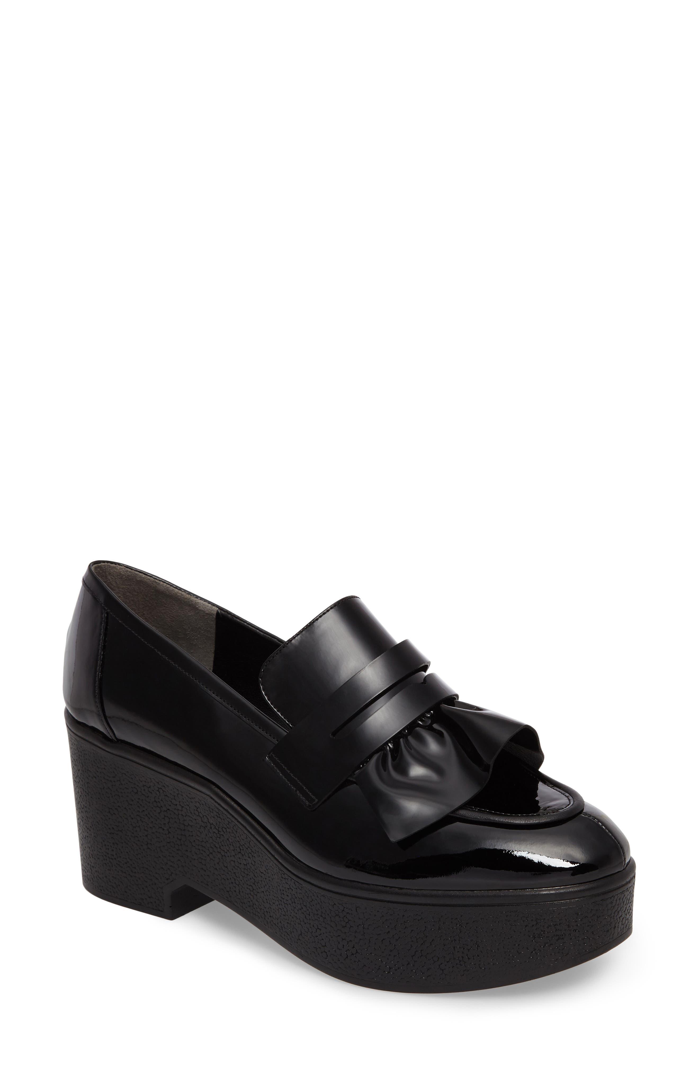 Xock Platform Loafer,                             Main thumbnail 1, color,                             Black