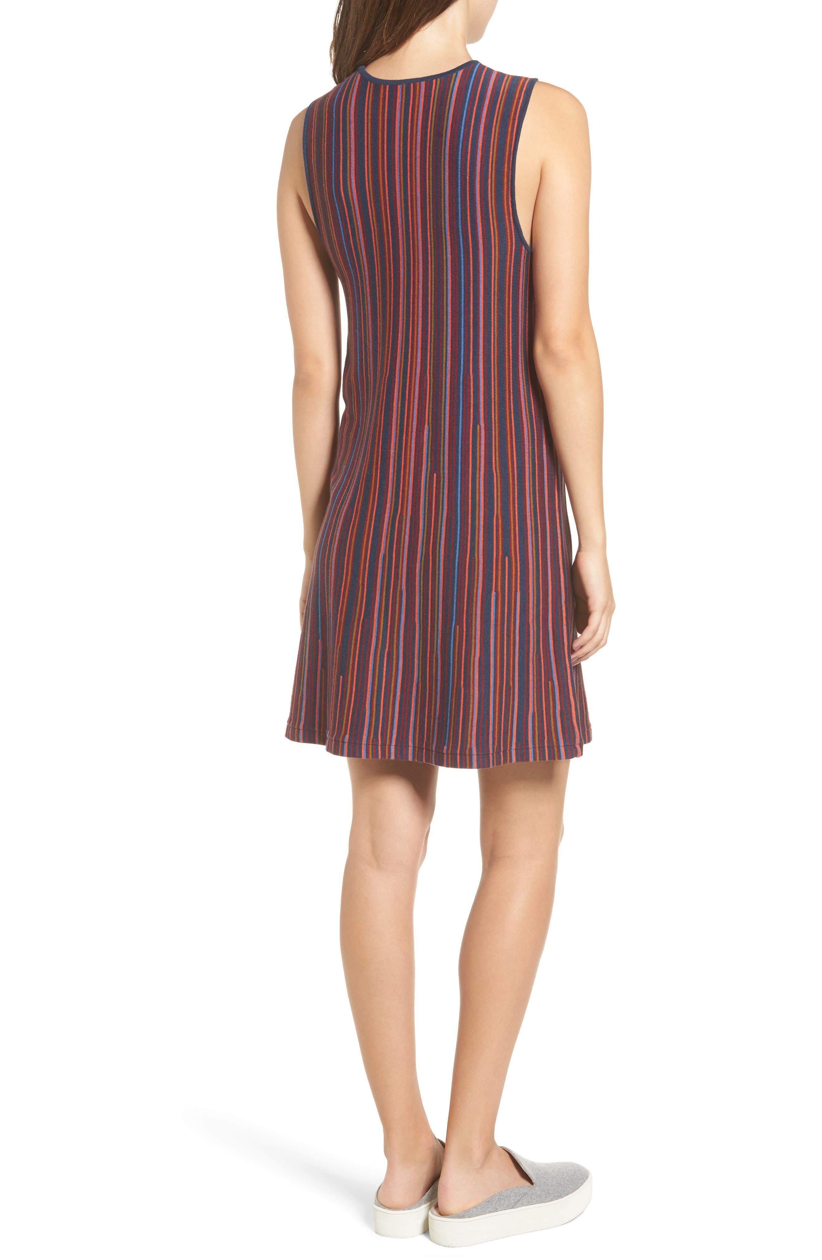 Foolish Stripe Knit Dress,                             Alternate thumbnail 2, color,                             Federal Blue