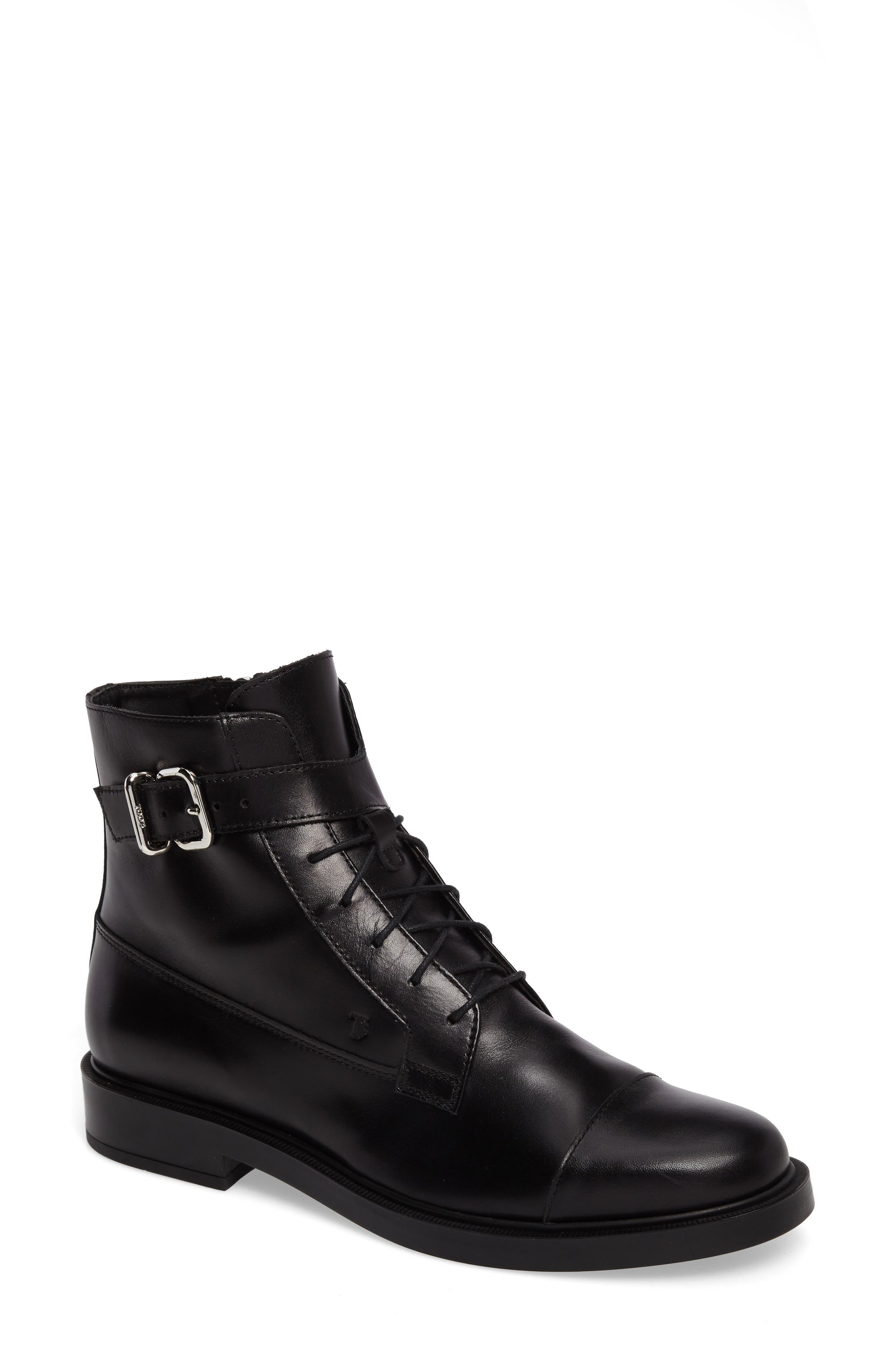 TODS Lace Up Combat Bootie