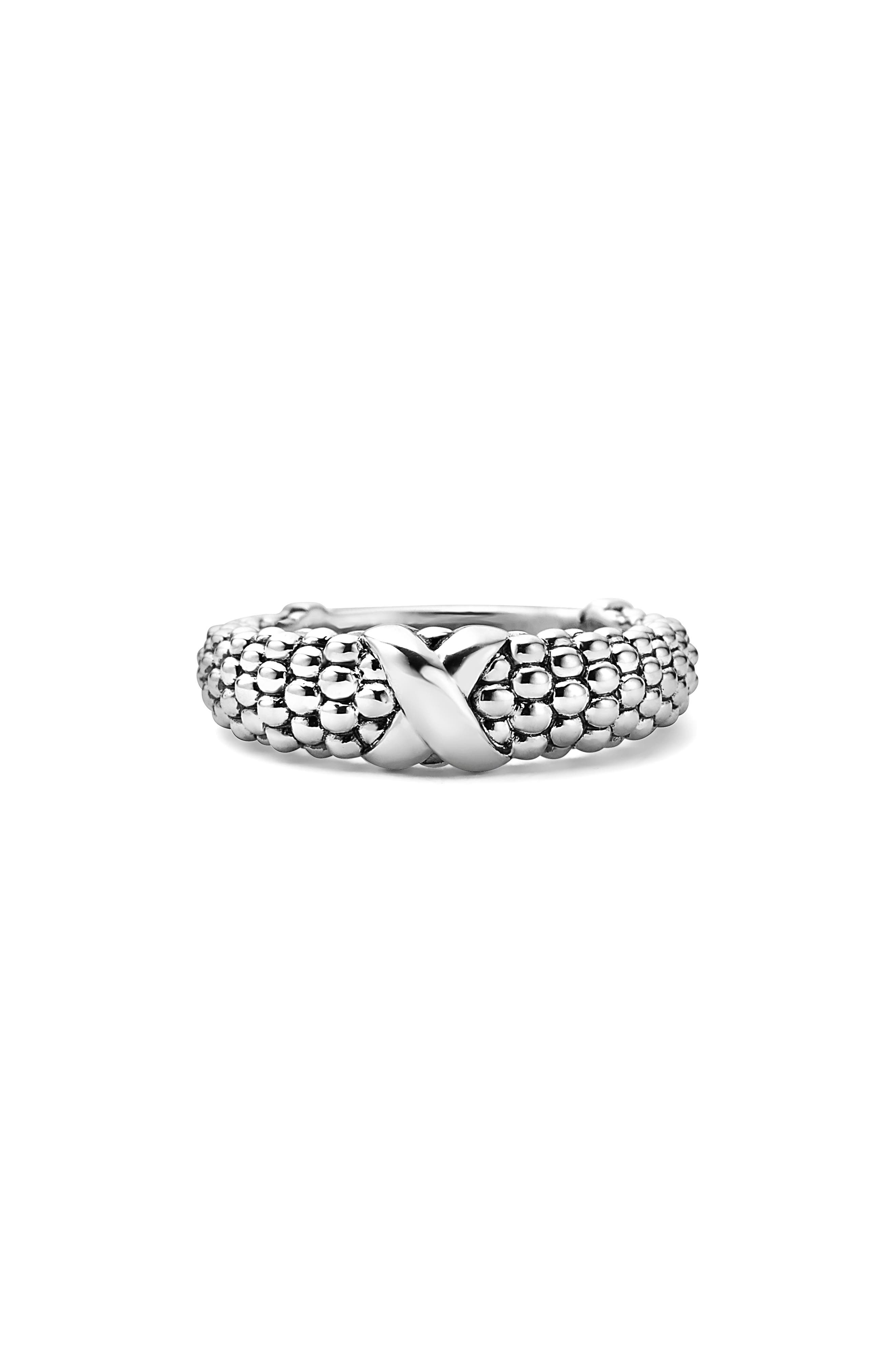 'Signature Caviar' Ring,                             Alternate thumbnail 4, color,                             Silver