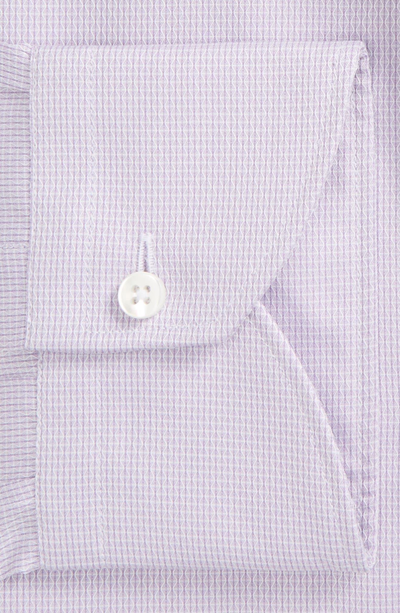 Regular Fit Geometric Dress Shirt,                             Alternate thumbnail 2, color,                             Purple