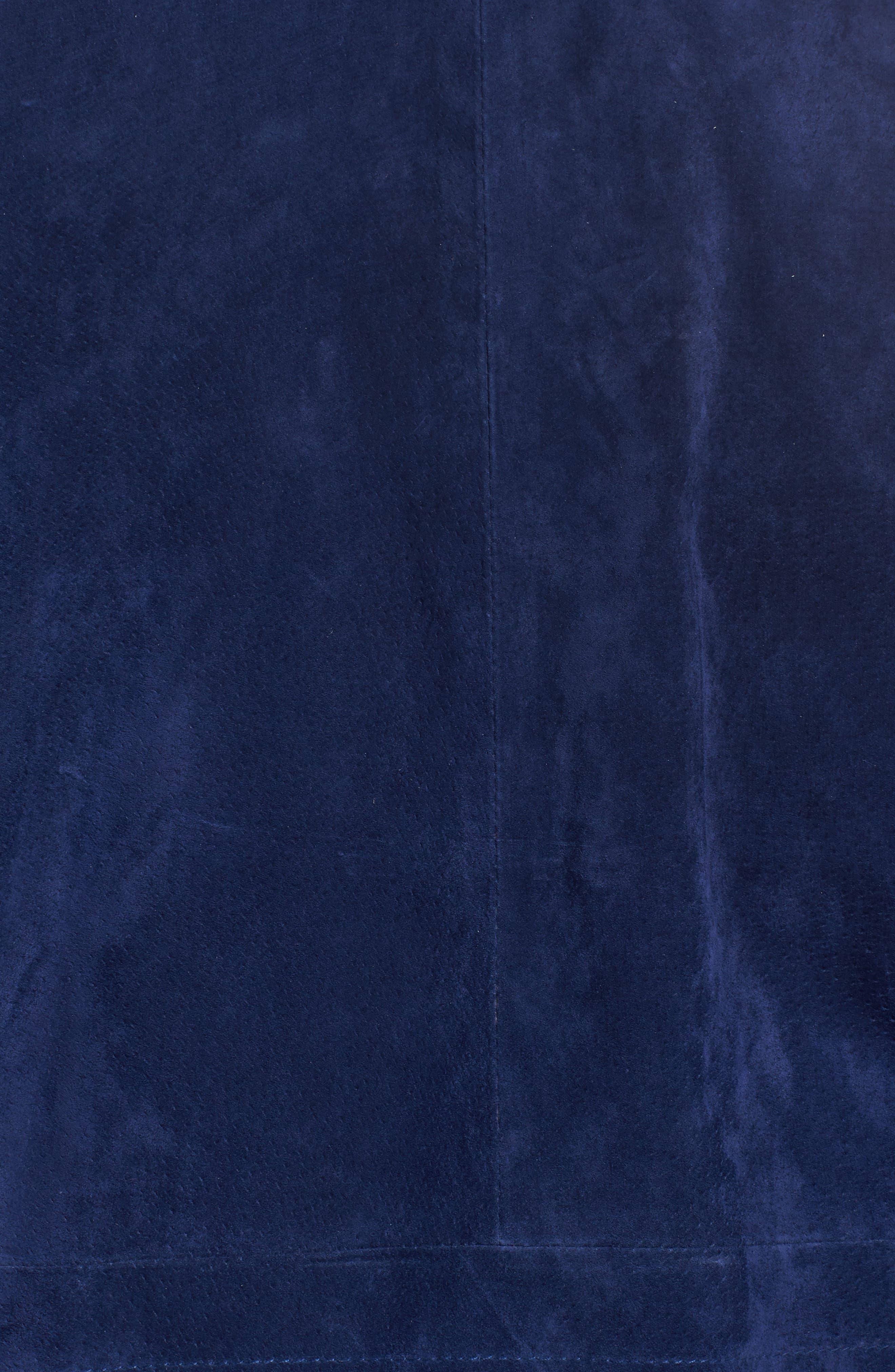 Suede Moto Jacket,                             Alternate thumbnail 6, color,                             Surf The Web