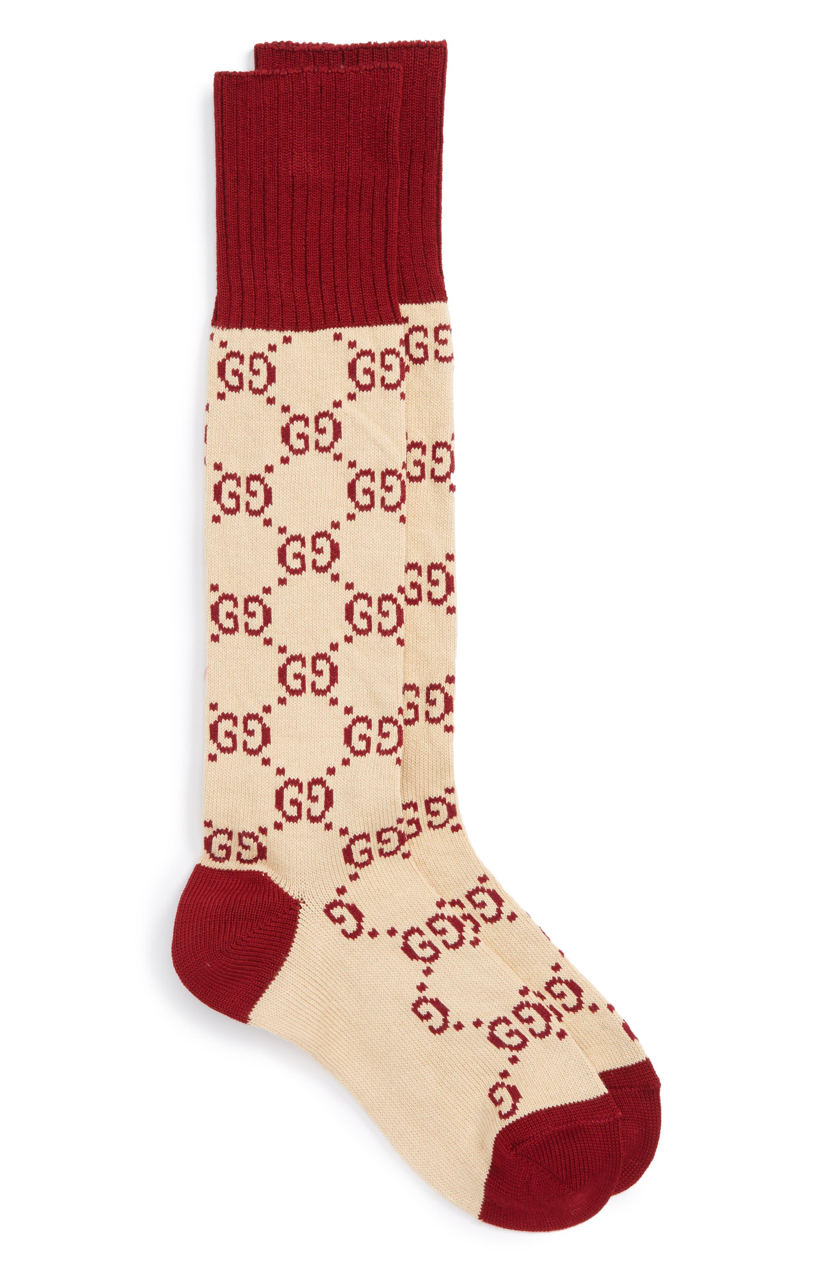 Alternate Image 1 Selected - Gucci GG Socks