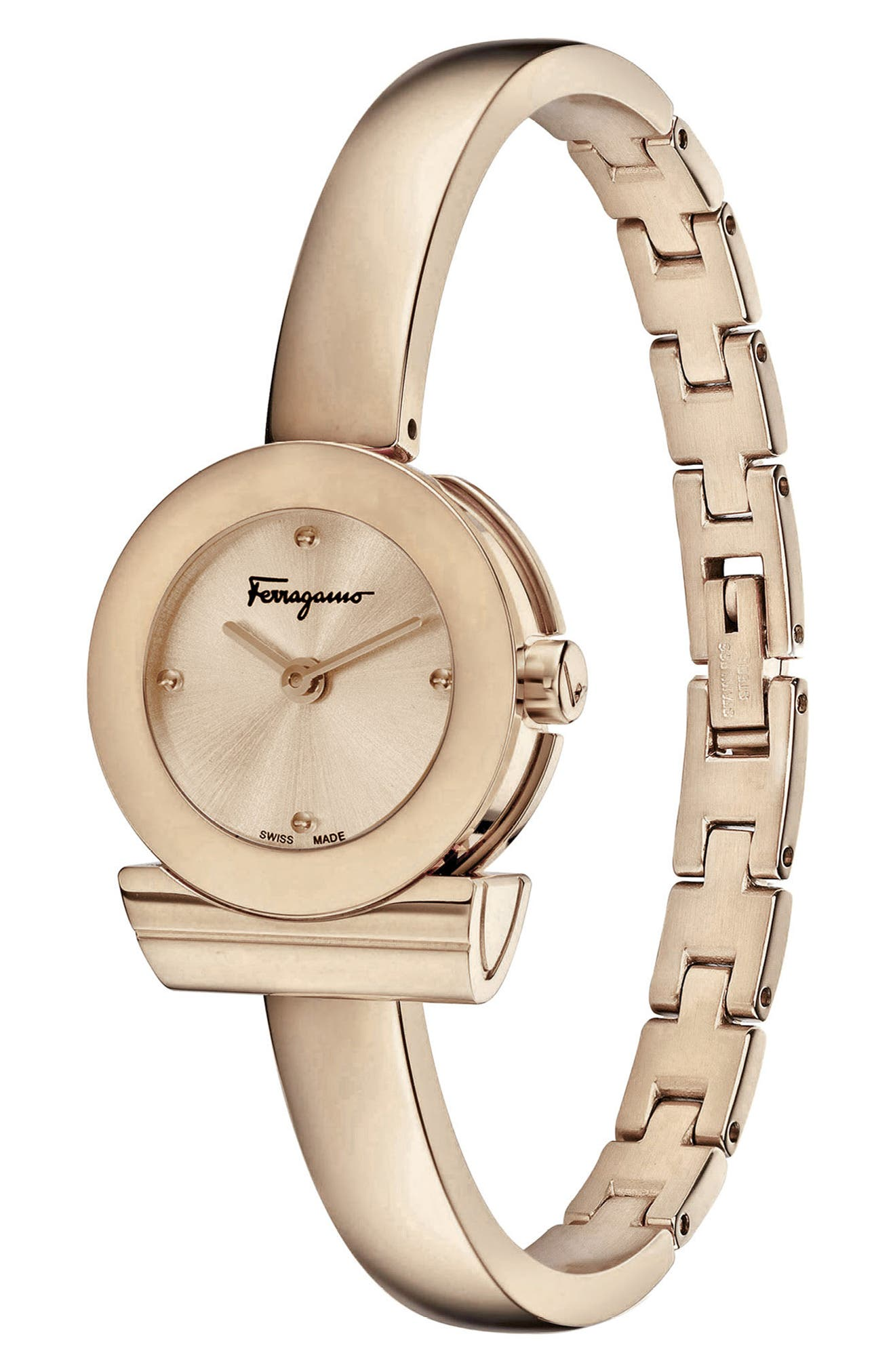Alternate Image 3  - Salvatore Ferragamo Gancino Bracelet Watch, 22.5mm