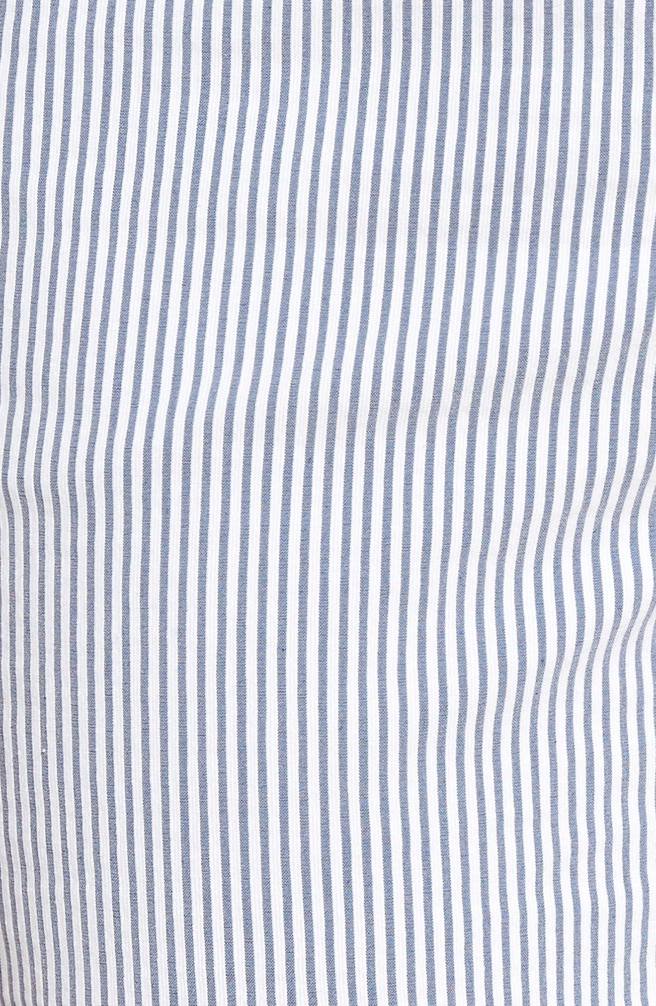 Stretch Bermuda Shorts,                             Alternate thumbnail 5, color,                             Blue- White Seersucker
