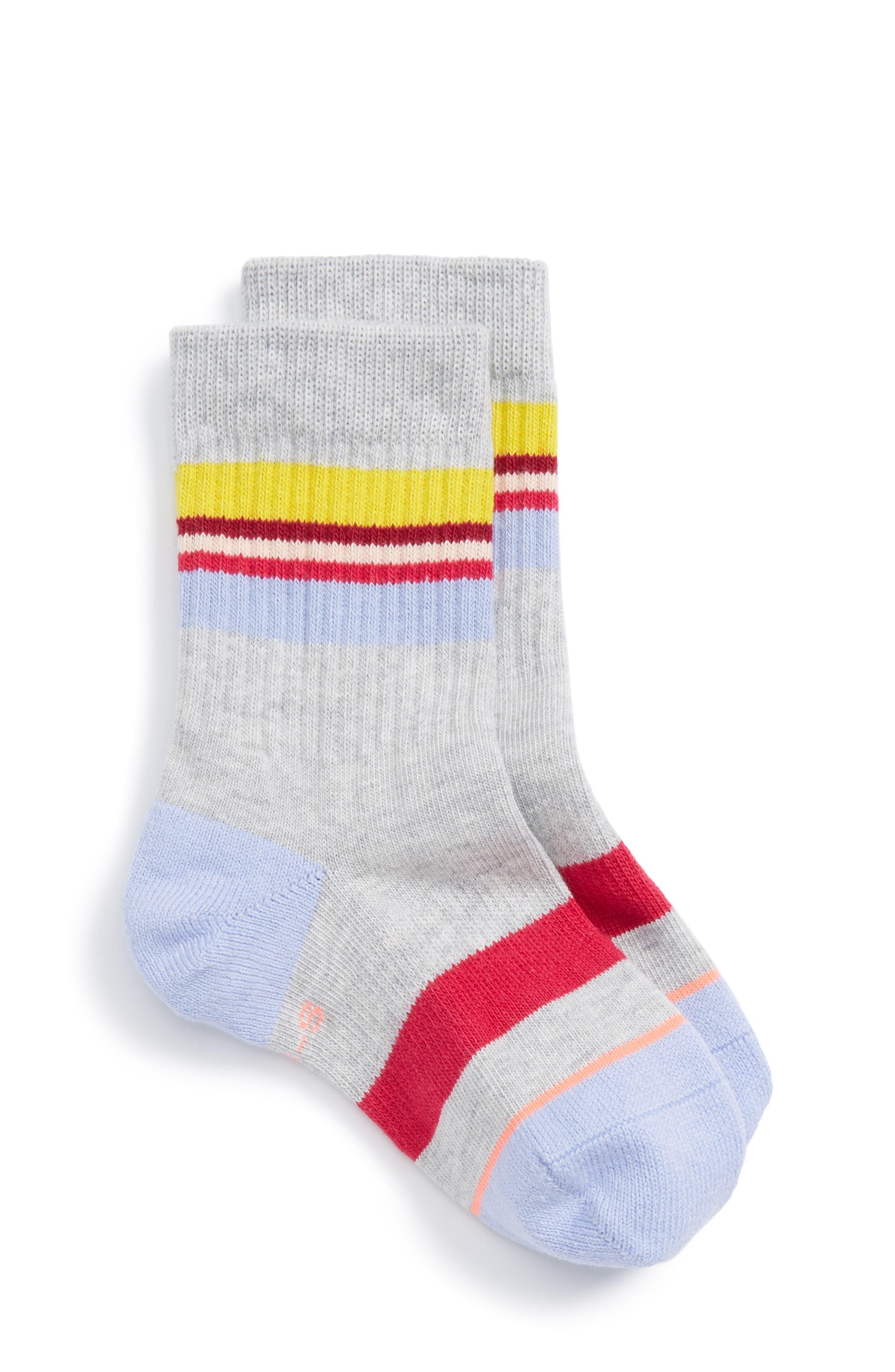 Jiggy Striped Socks,                         Main,                         color, Grey