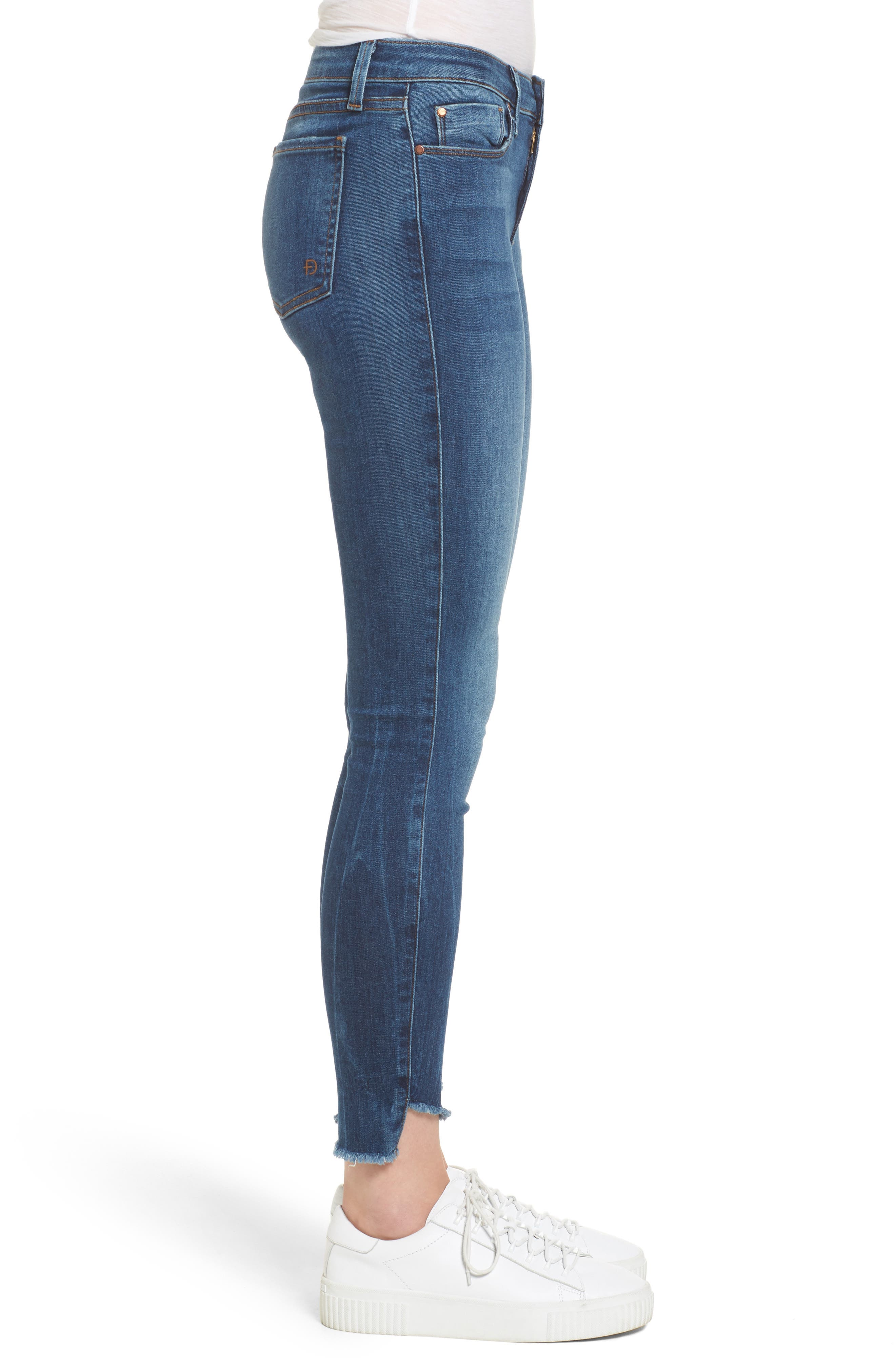 Alternate Image 3  - Fidelity Denim Mila Step Hem Skinny Jeans (Vintage Blue)