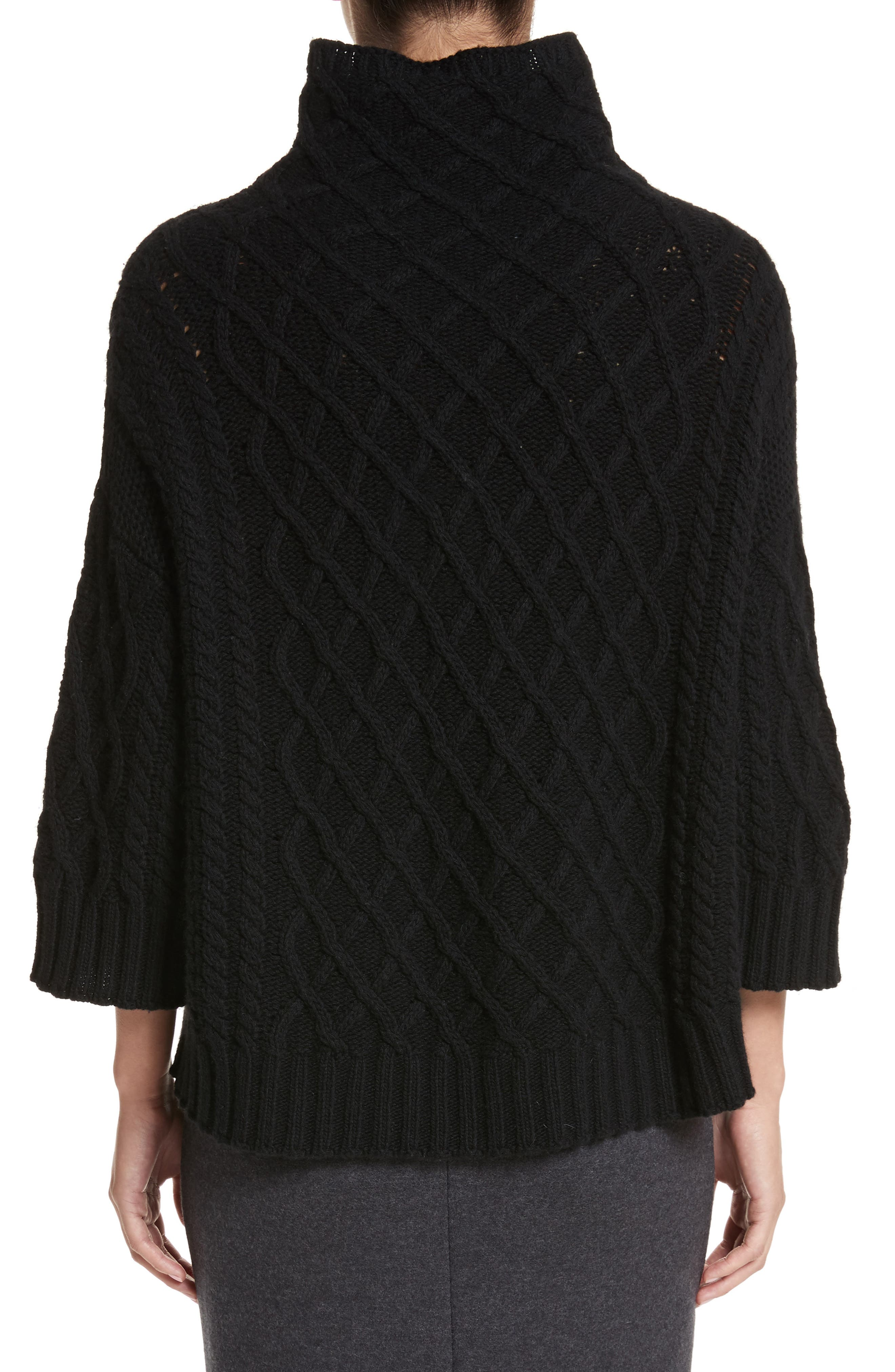 Alternate Image 2  - Max Mara Cantone Wool & Cashmere Funnel Neck Sweater