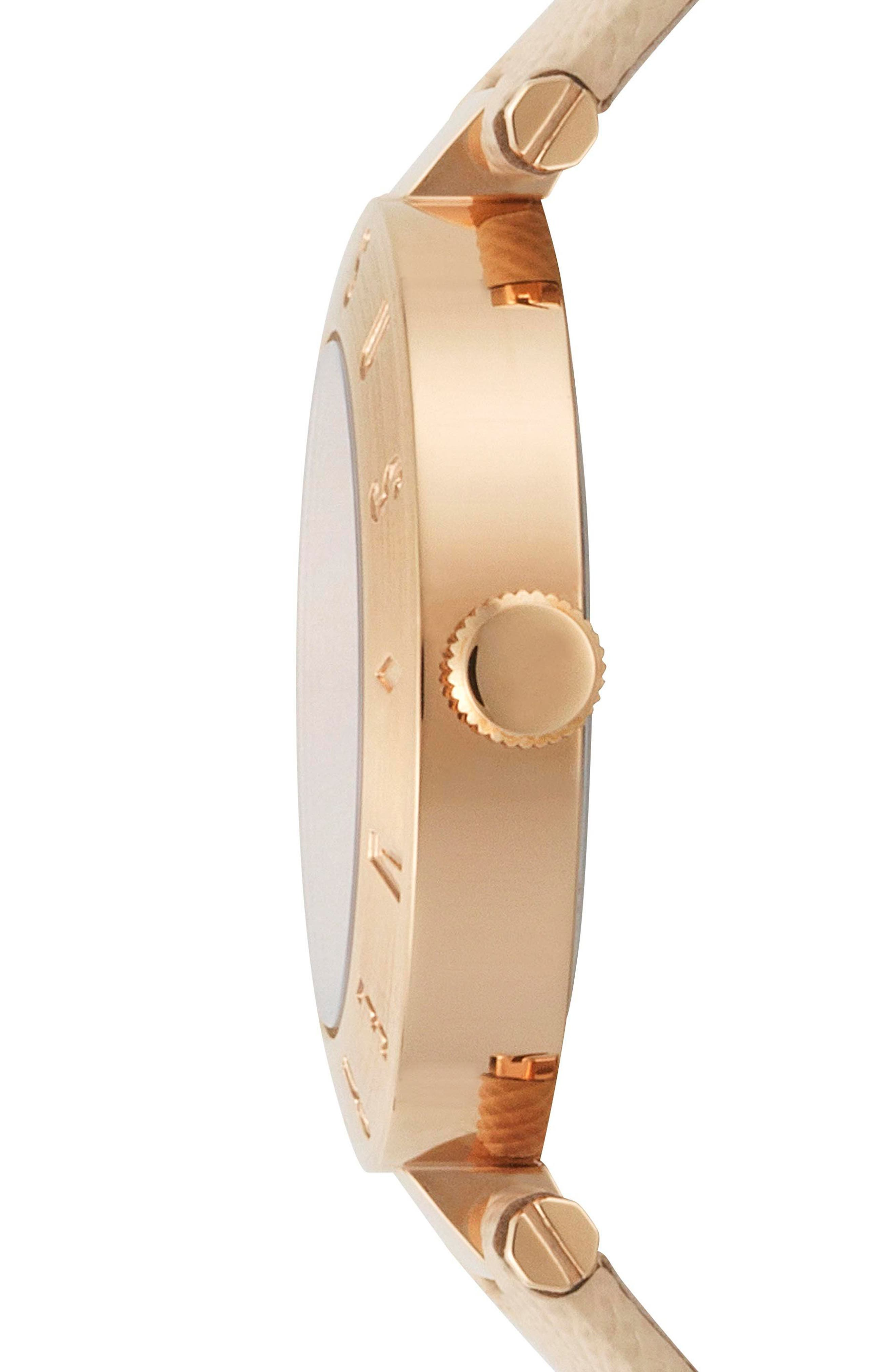 Versus by Versace New Logo Leather Strap Watch, 34mm,                             Alternate thumbnail 2, color,                             Beige/ Rose Gold