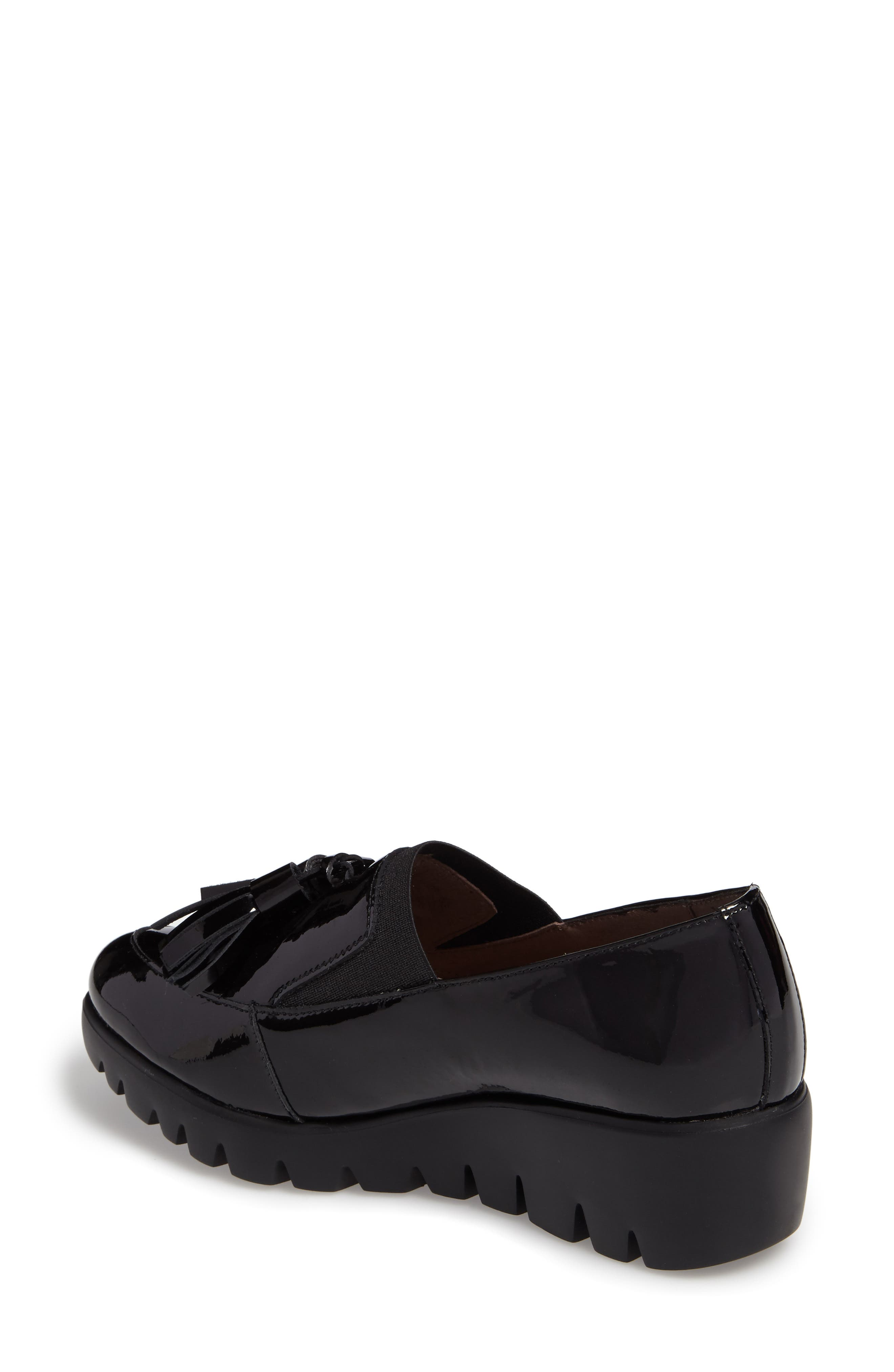 Talla Loafer Wedge,                             Alternate thumbnail 2, color,                             Black Patent Leather