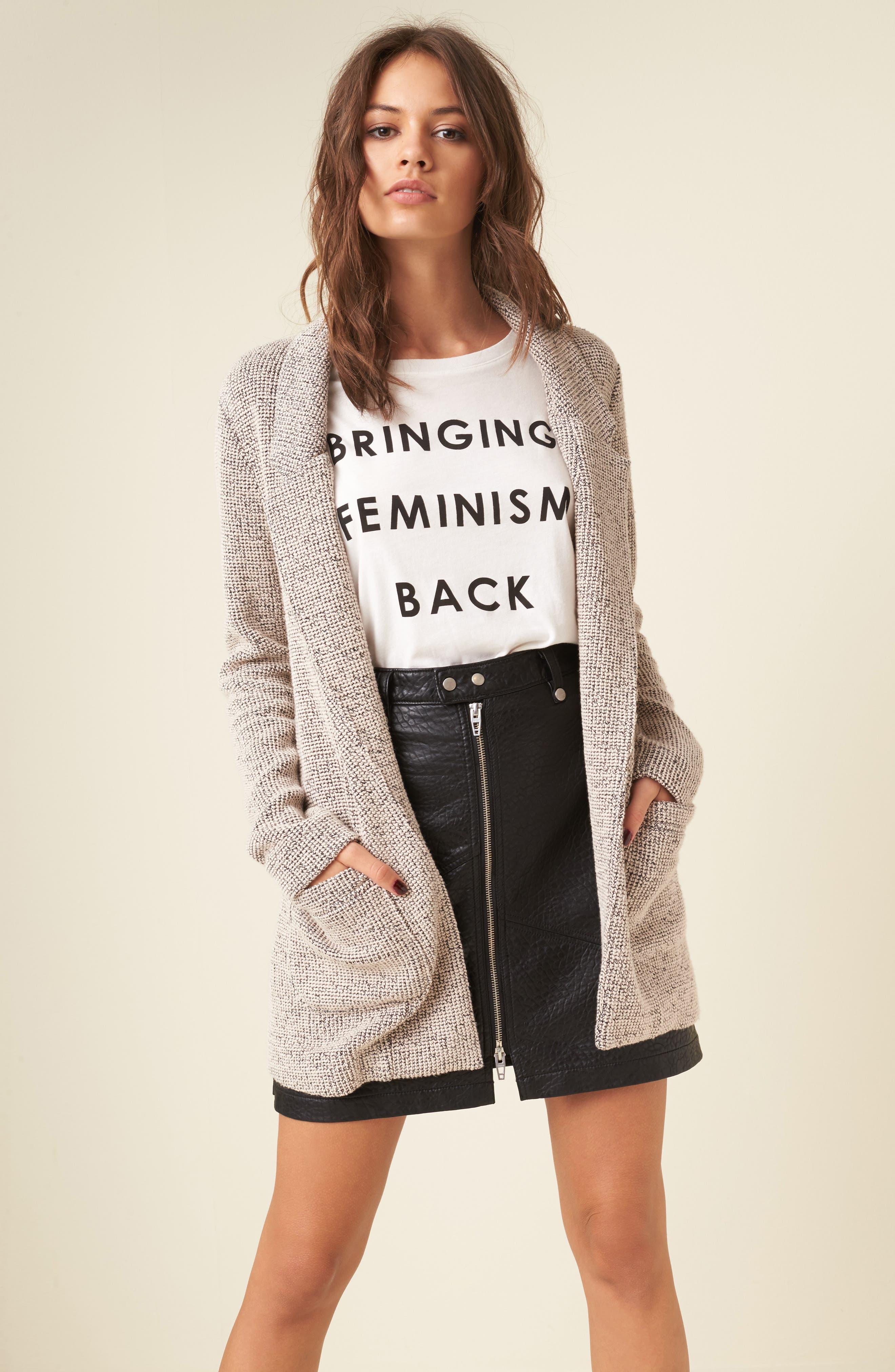 Alternate Image 2  - BLANKNYC Faux Leather Moto Skirt