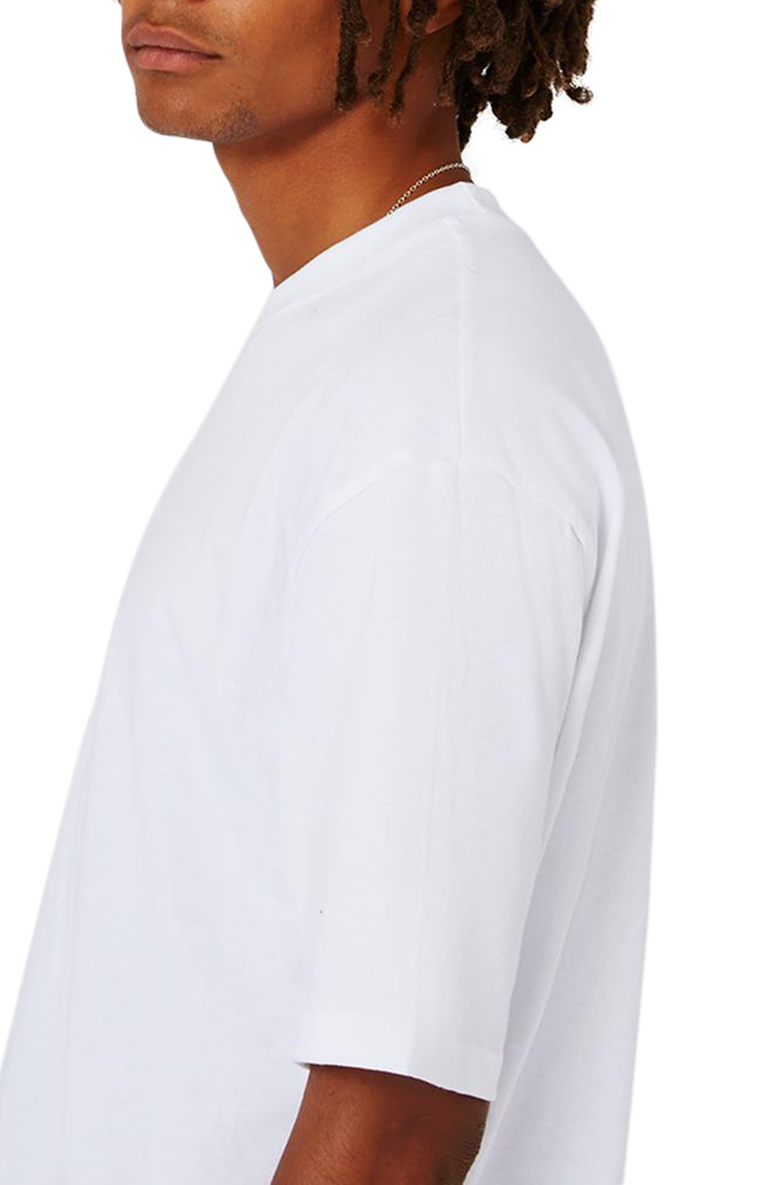 Oversize T-Shirt,                             Alternate thumbnail 3, color,                             White