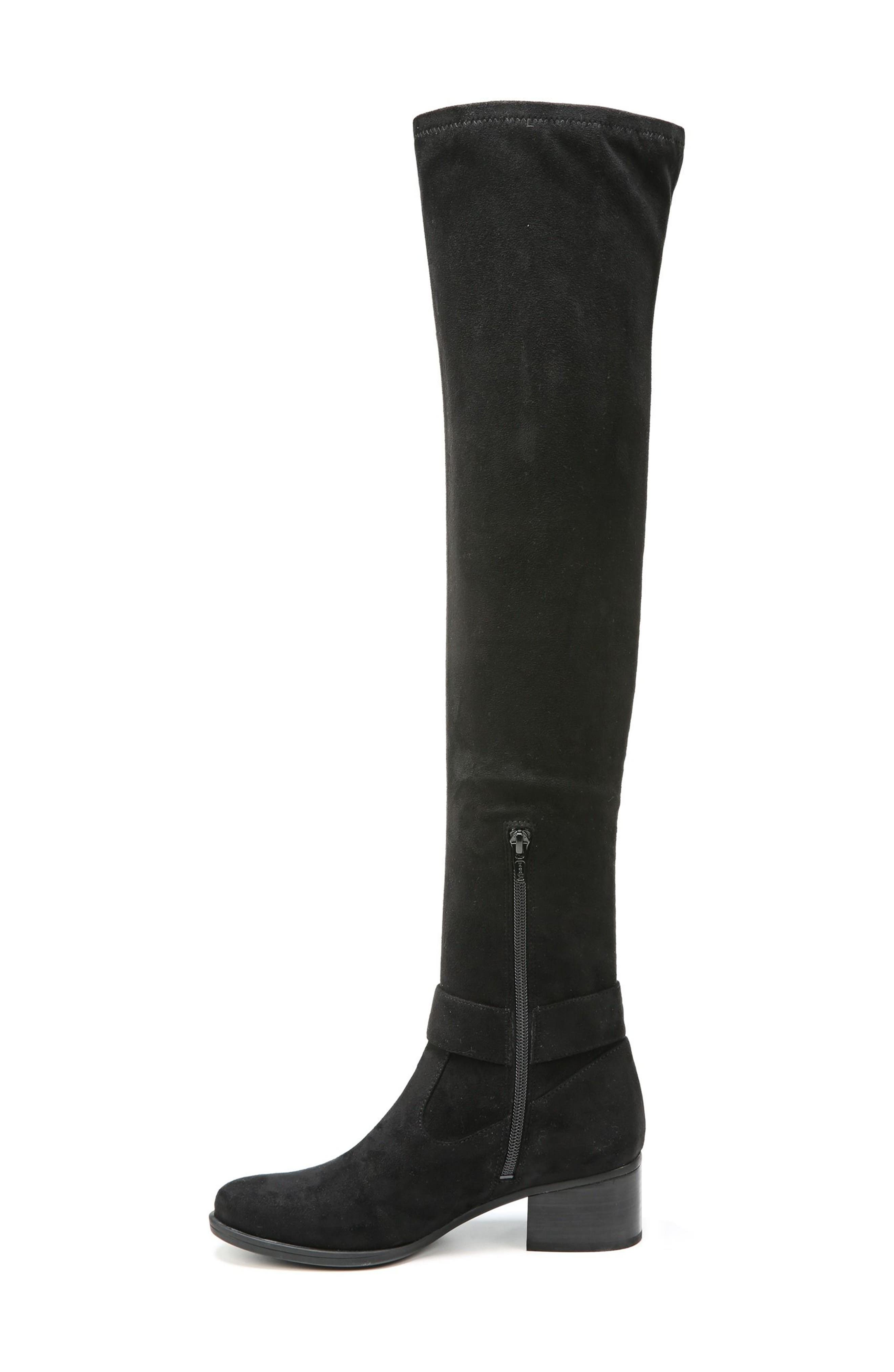 Dalyn Over the Knee Boot,                             Alternate thumbnail 2, color,                             Black Stretch Microfiber