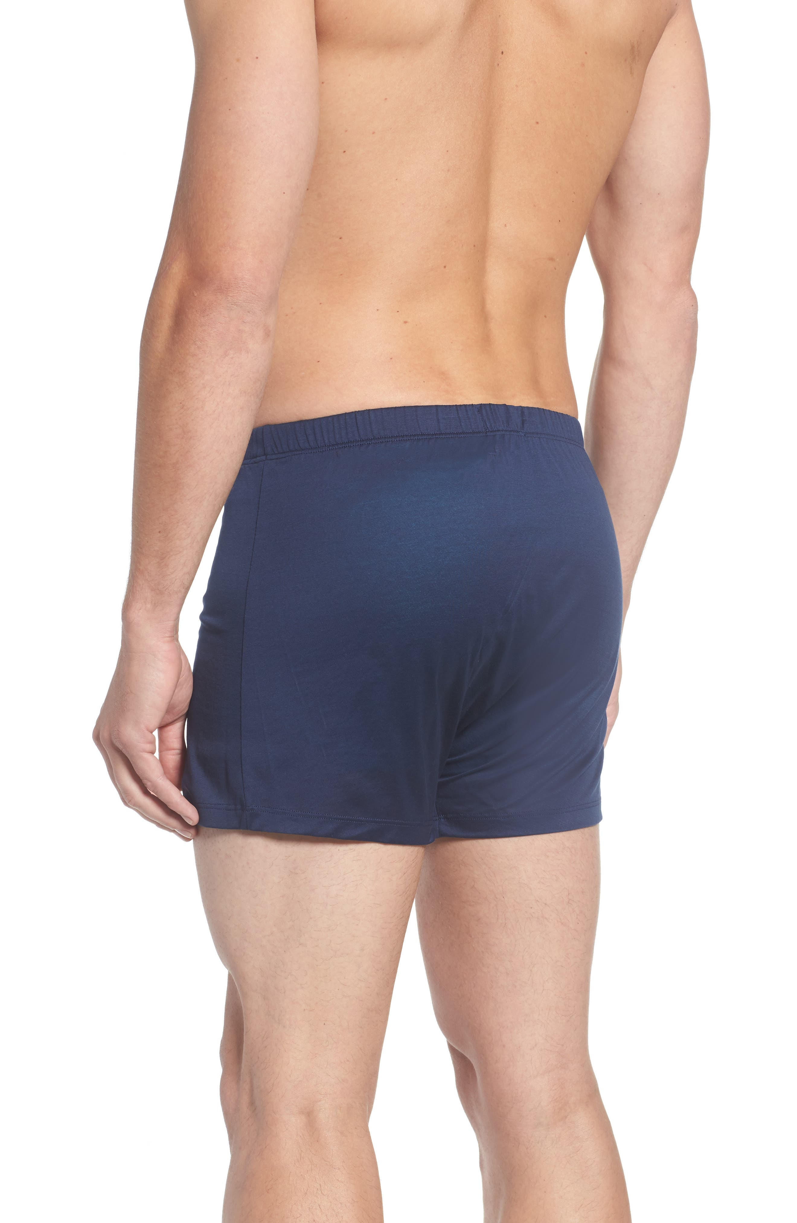 Cotton Sporty Knit Boxers,                             Alternate thumbnail 2, color,                             Midnight Navy
