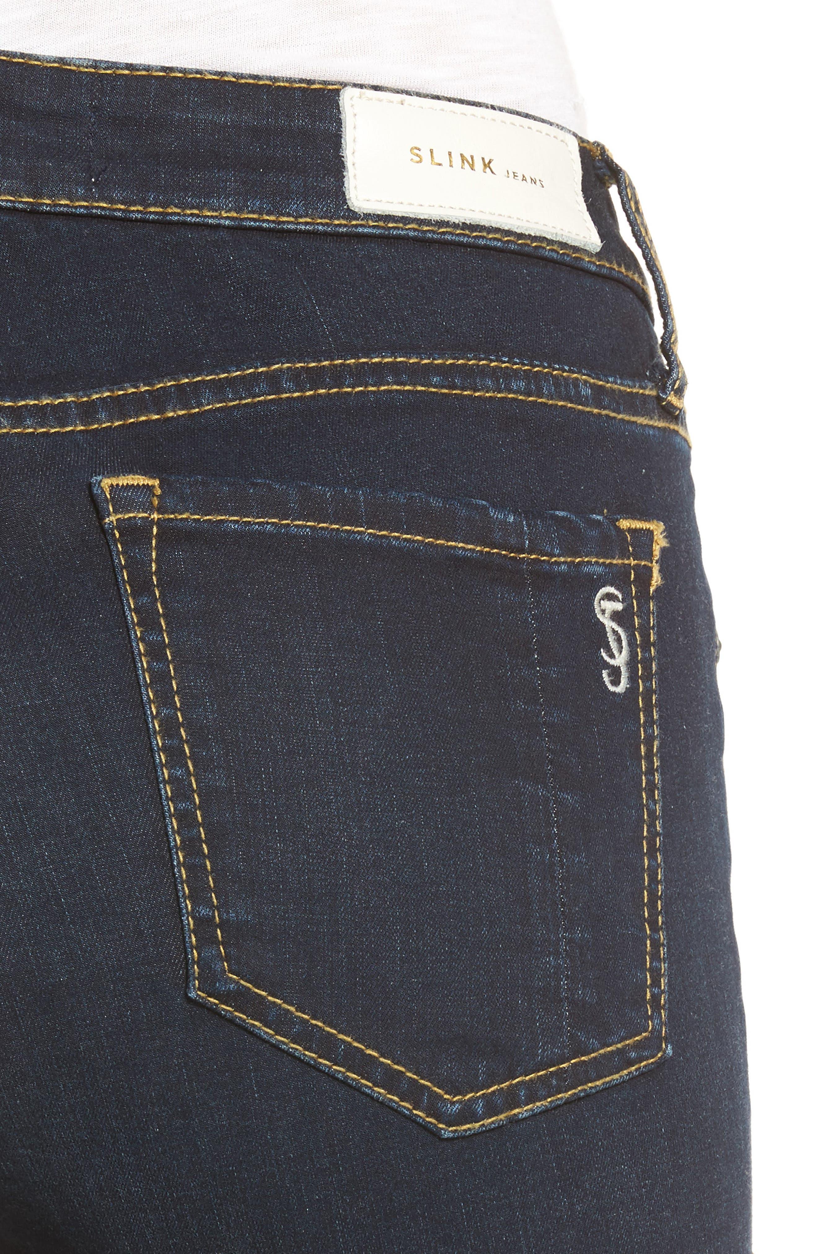 Ankle Skinny Jeans,                             Alternate thumbnail 4, color,                             Summer