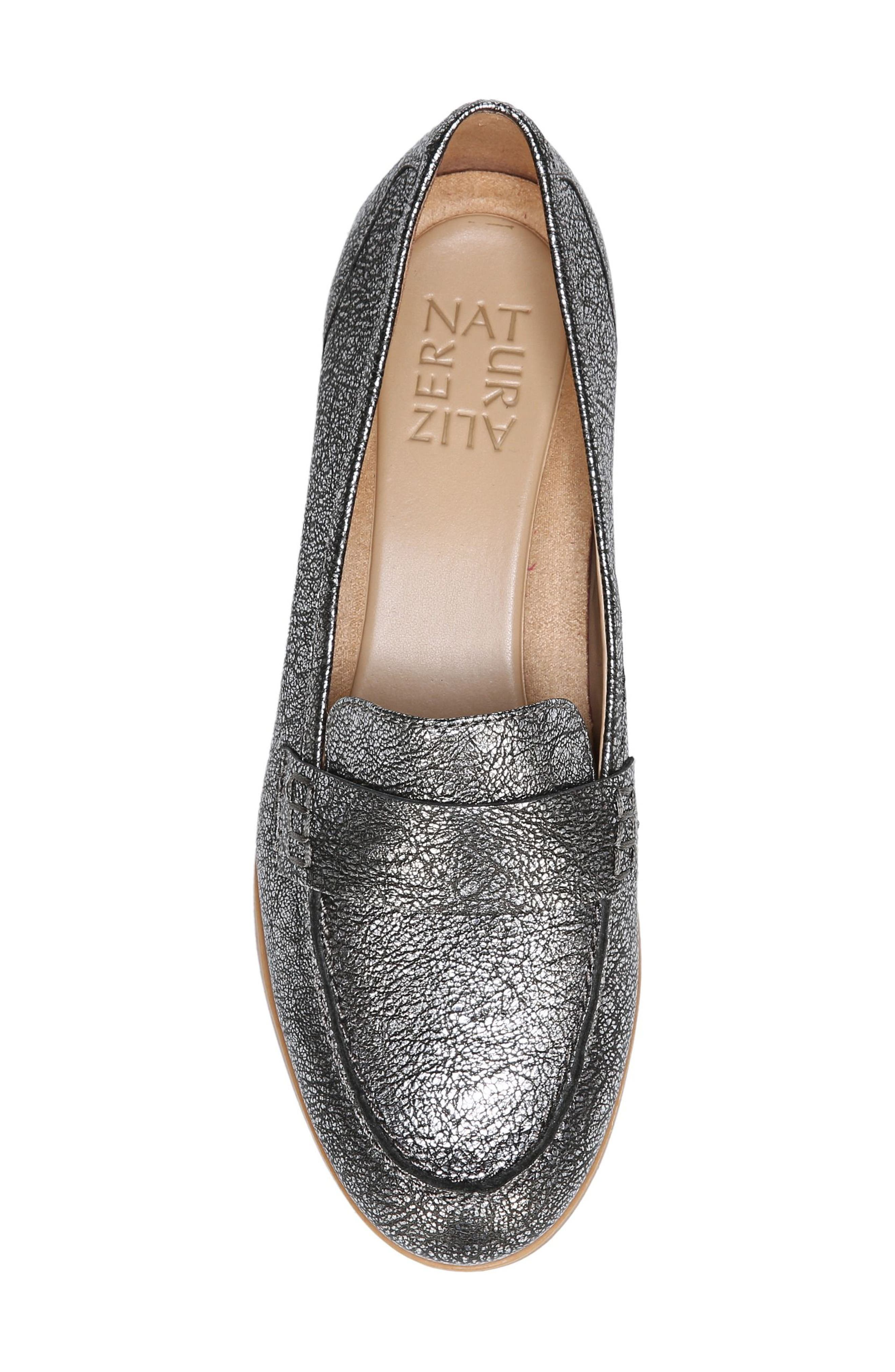Veronica Loafer,                             Alternate thumbnail 5, color,                             Silver Leather