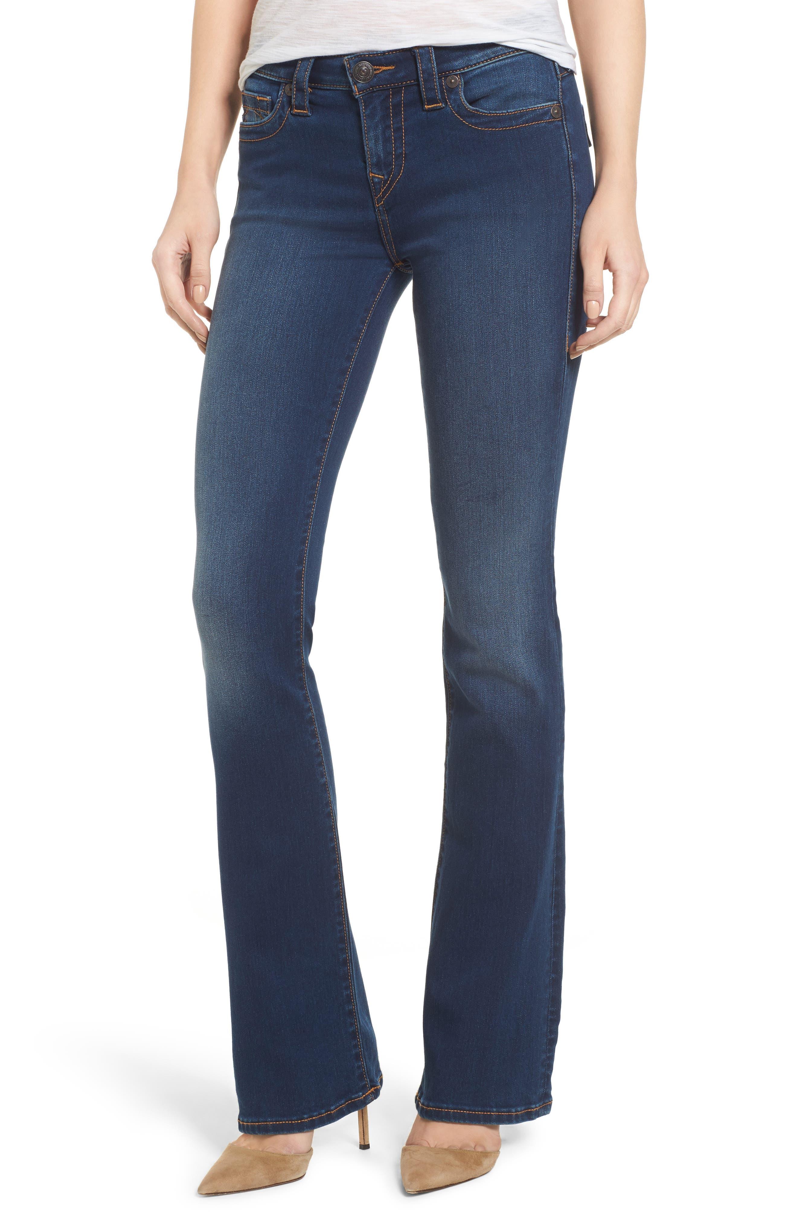 Becca Bootcut Jeans,                         Main,                         color, Lands End Indigo
