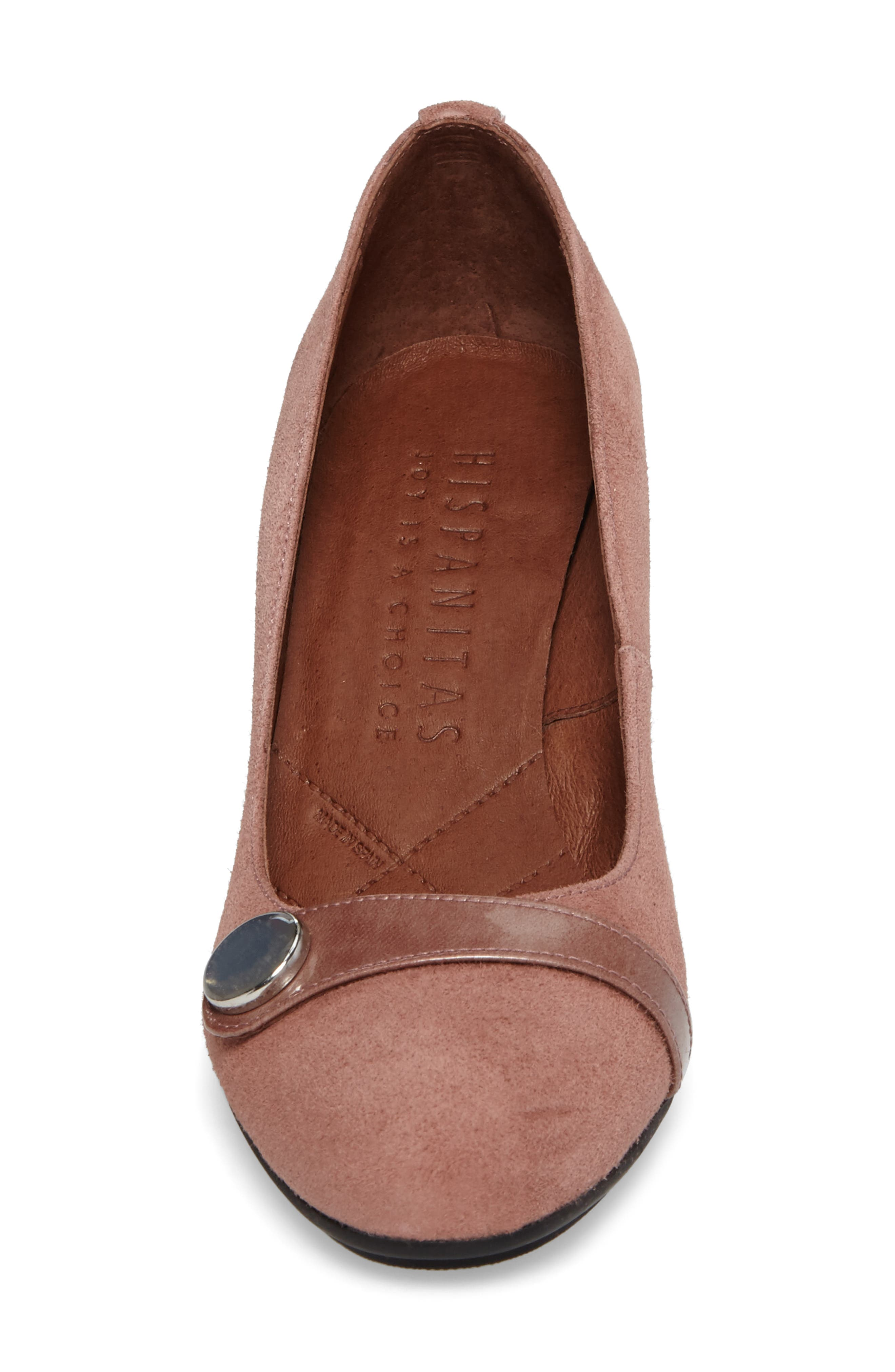 Gretchen Pump,                             Alternate thumbnail 4, color,                             Rose Leather