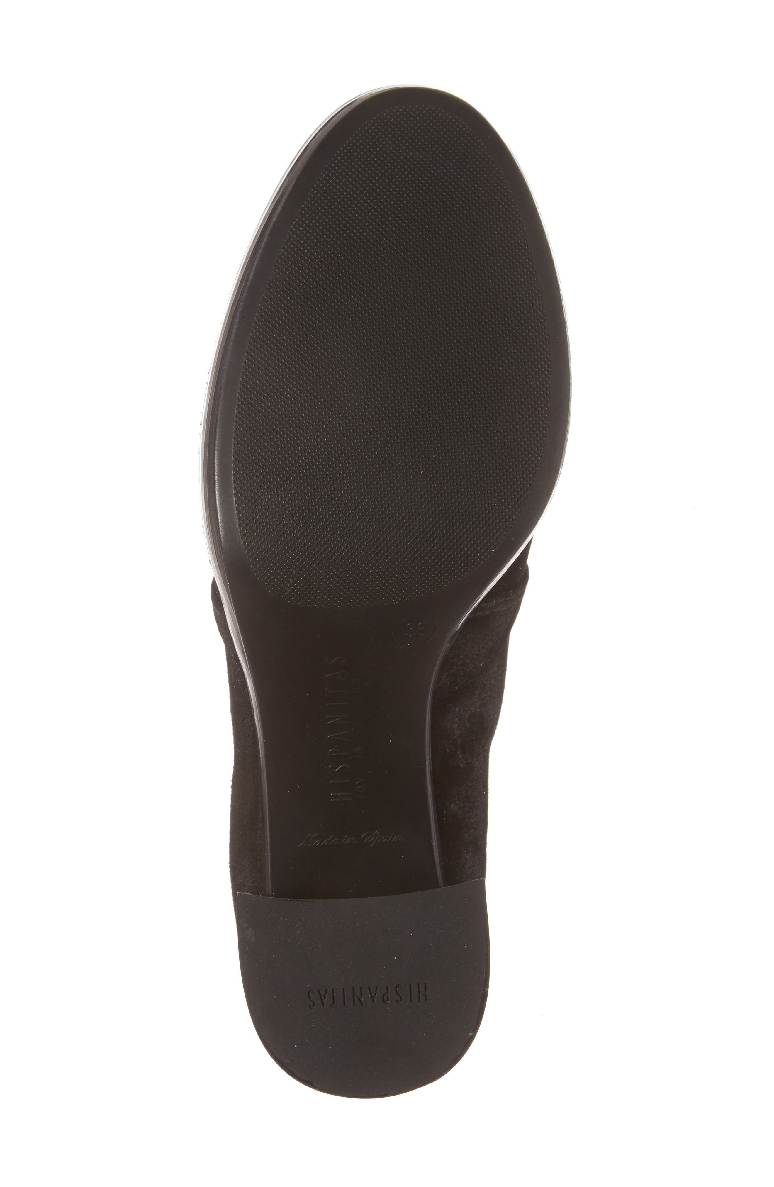 Dasia Bow Bootie,                             Alternate thumbnail 6, color,                             Brut Black Leather