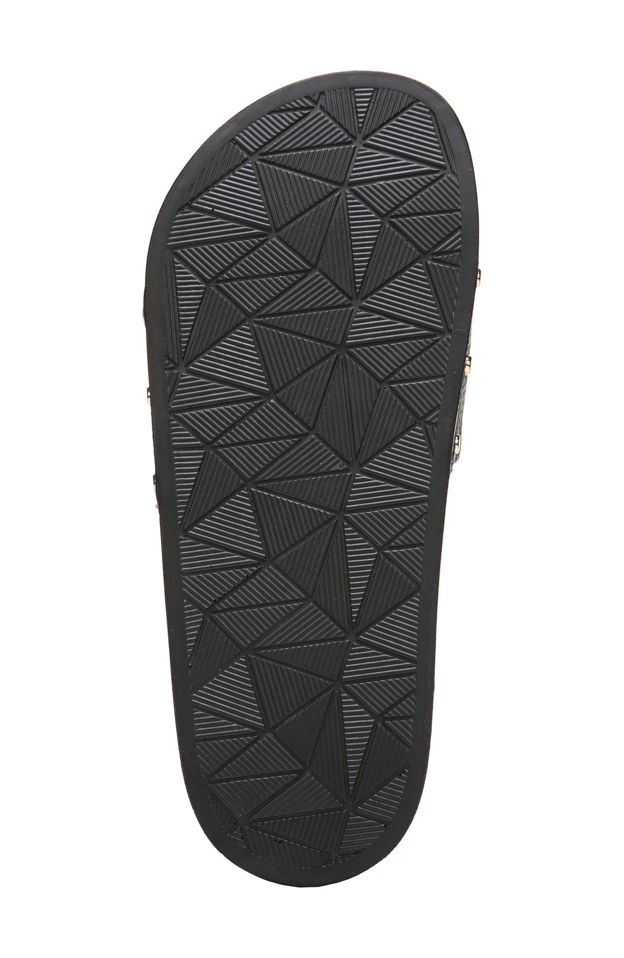 Pisces Slide Sandal,                             Alternate thumbnail 6, color,                             Black Leather