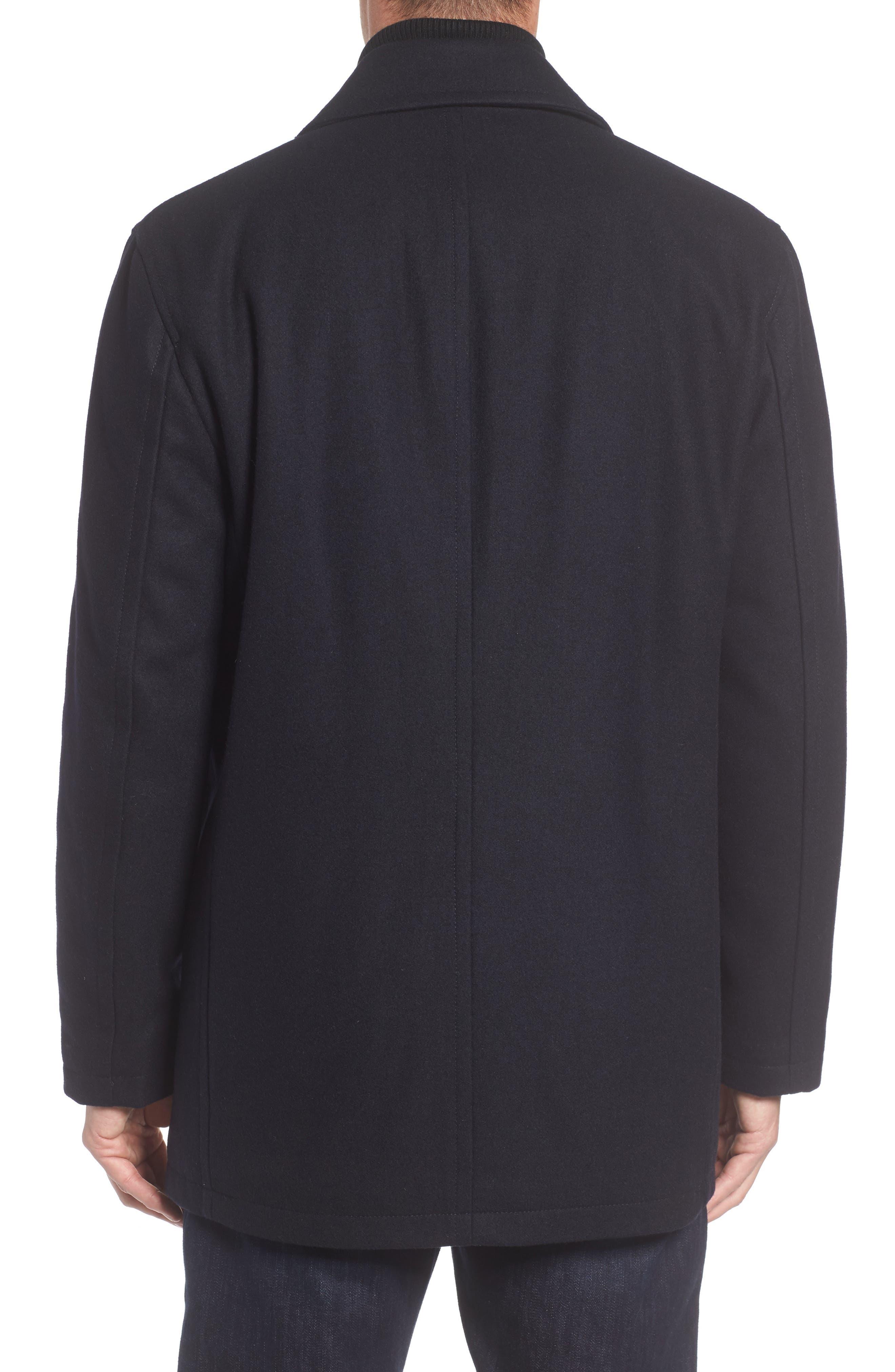 Alternate Image 2  - Marc New York Burnett Wool Blend Peacoat with Front Insert
