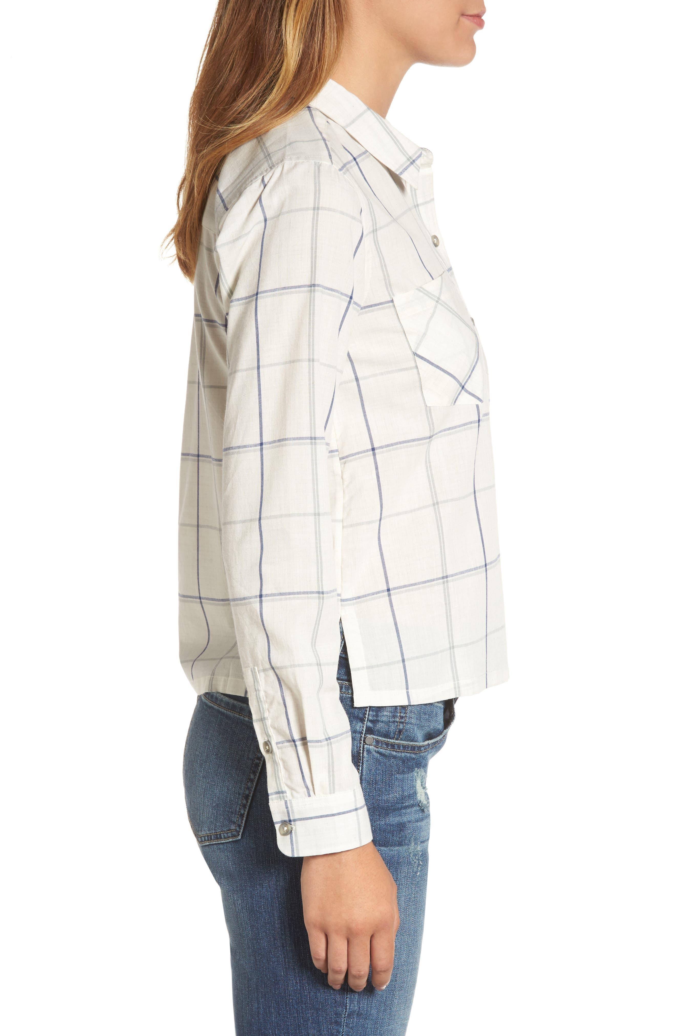 Plaid Shirt,                             Alternate thumbnail 3, color,                             Natural Multi