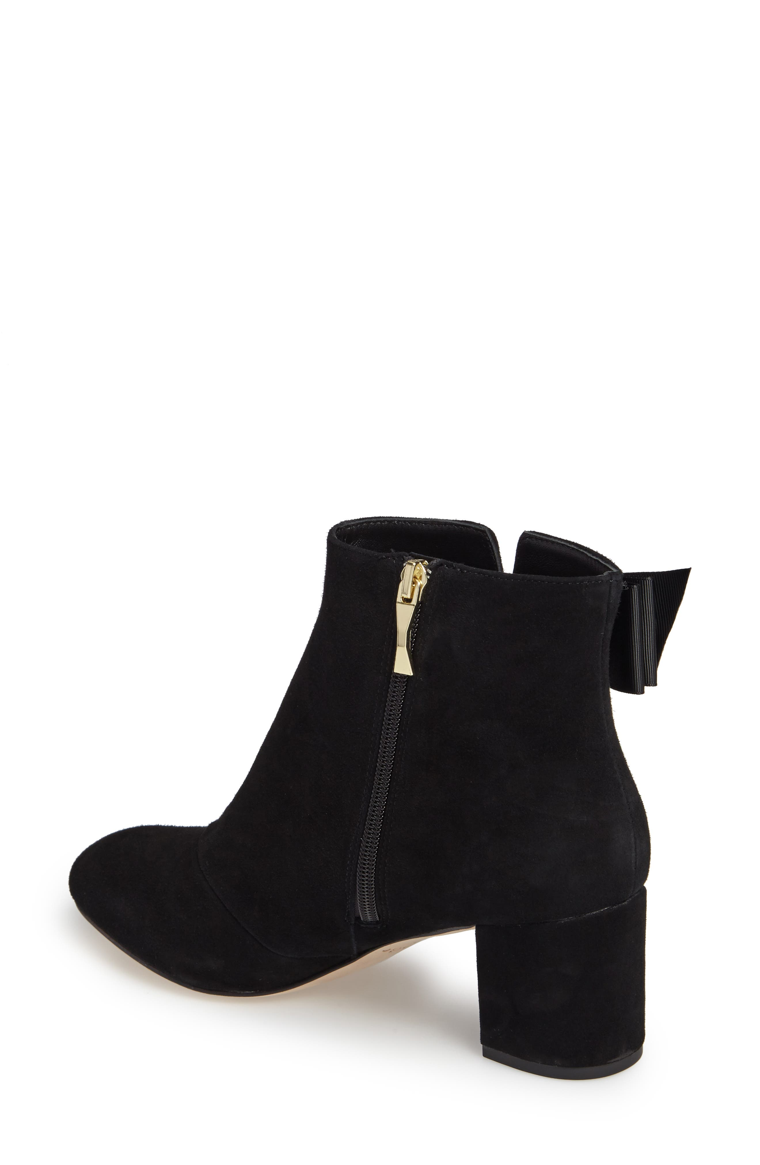 langley bow bootie,                             Alternate thumbnail 2, color,                             Black