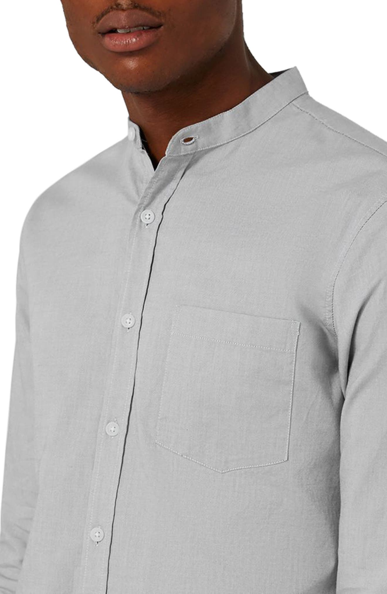 Alternate Image 3  - Topman Muscle Fit Stretch Oxford Shirt